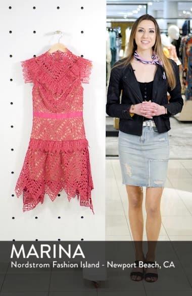 Lace Handkerchief Hem Minidress, sales video thumbnail