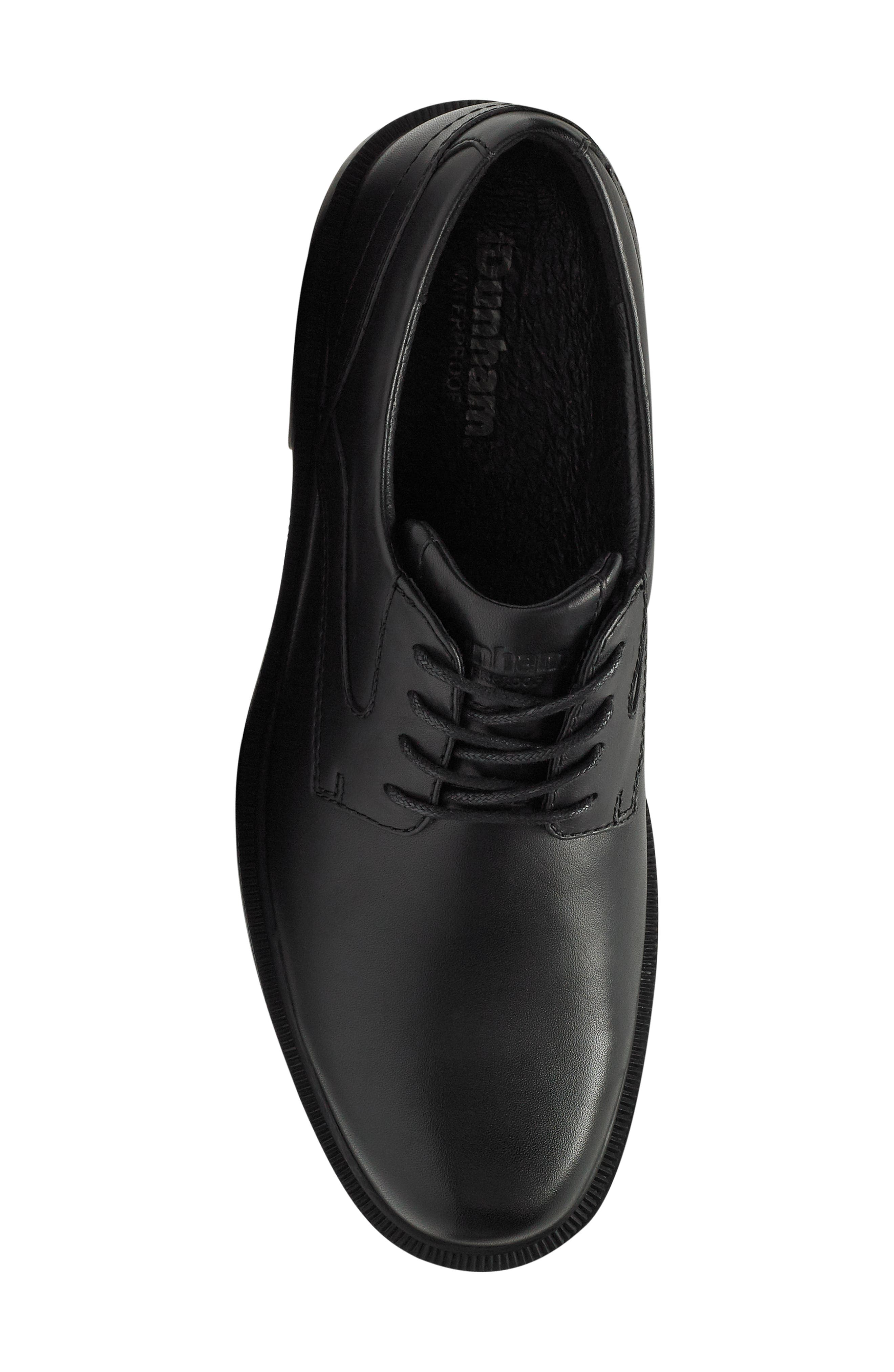 Jericho Plain Toe Derby,                             Alternate thumbnail 5, color,                             BLACK LEATHER