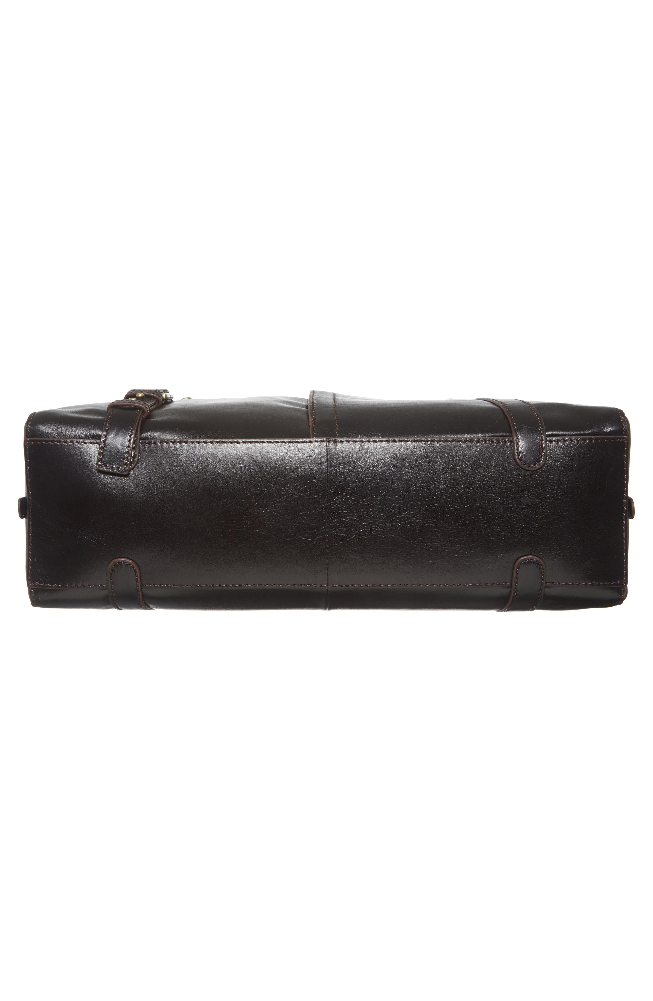 Beckon Calfskin Leather Satchel,                             Alternate thumbnail 6, color,                             001