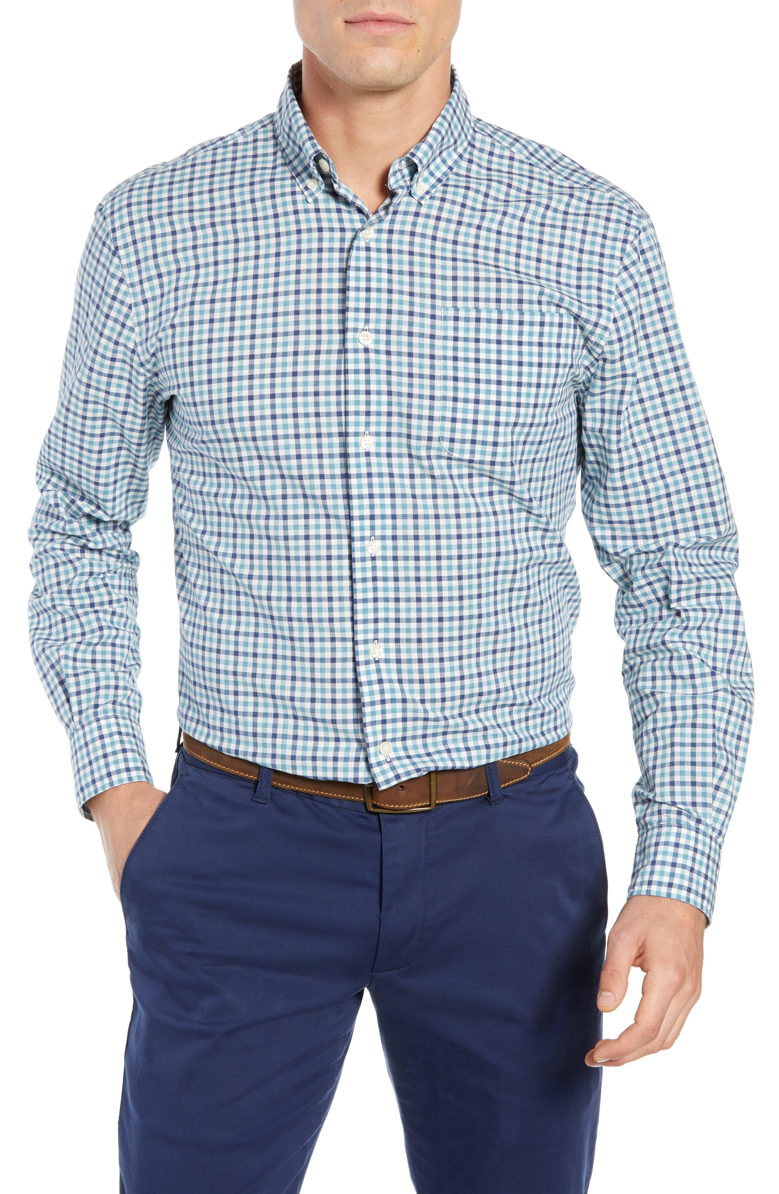Finley Classic Fit Sport Shirt,                             Main thumbnail 1, color,                             JADE