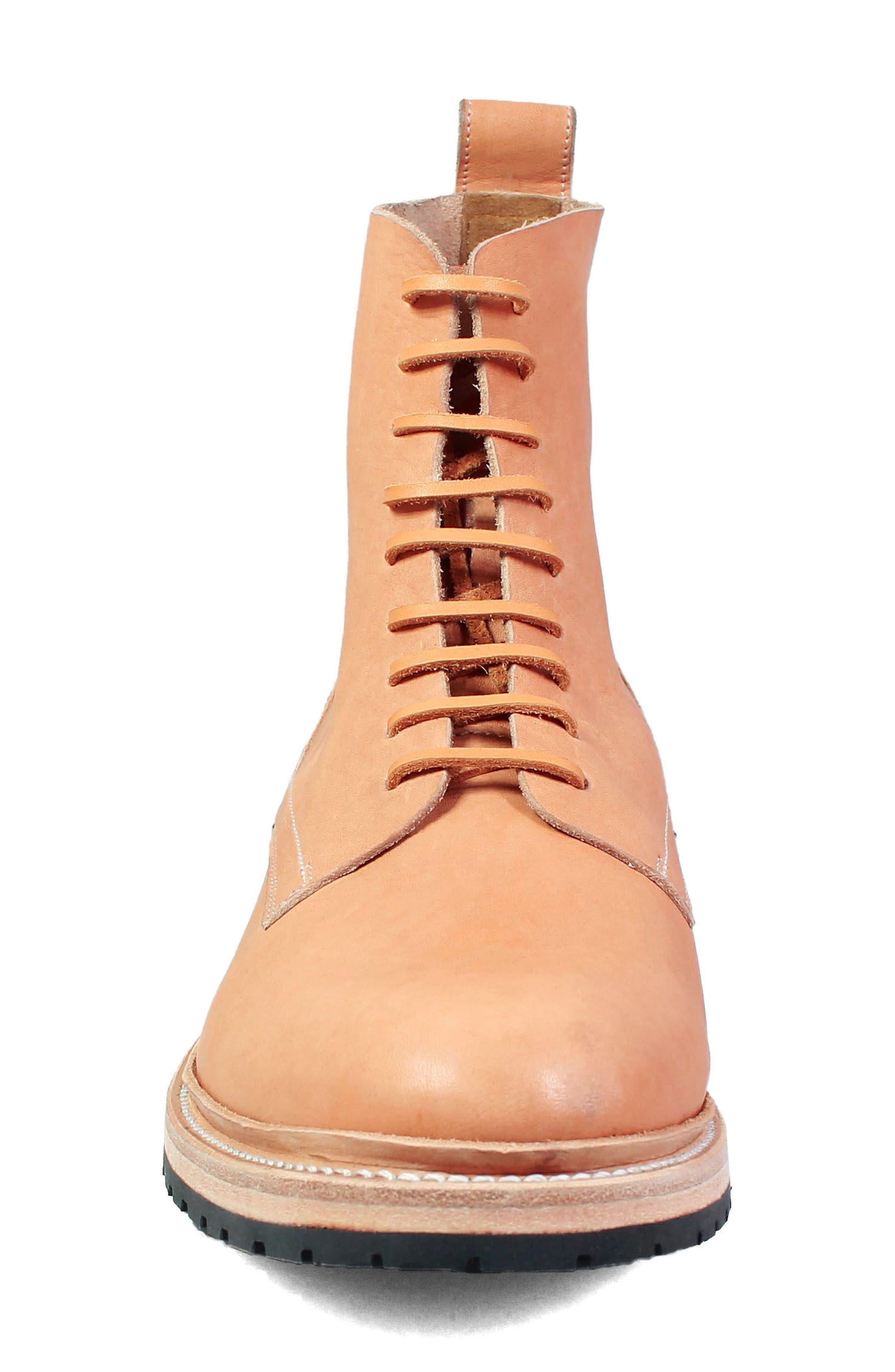M2 Plain Toe Boot,                             Alternate thumbnail 4, color,                             NATURAL LEATHER