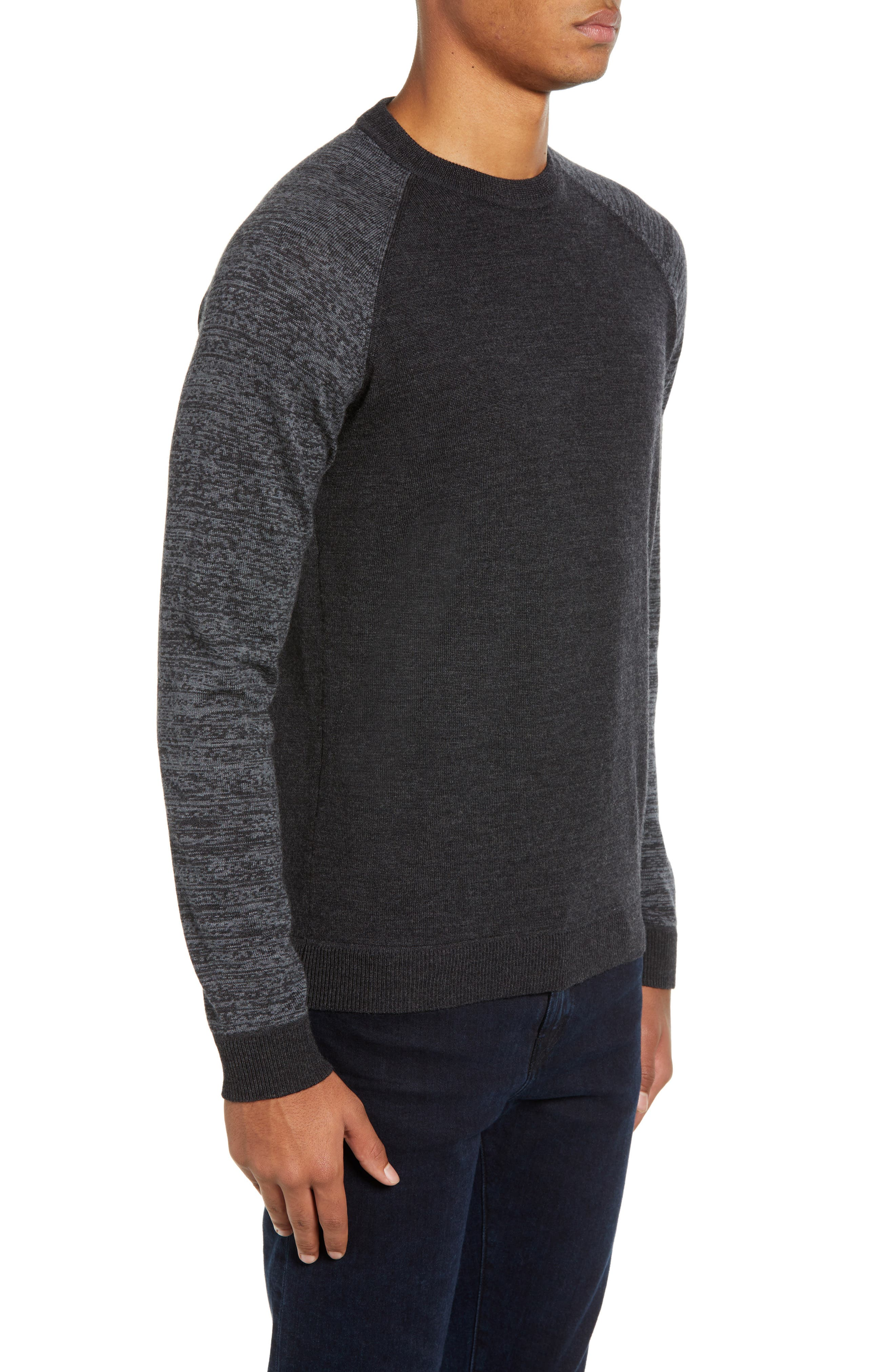 Cornfed Slim Fit Sweater,                             Alternate thumbnail 3, color,                             CHARCOAL