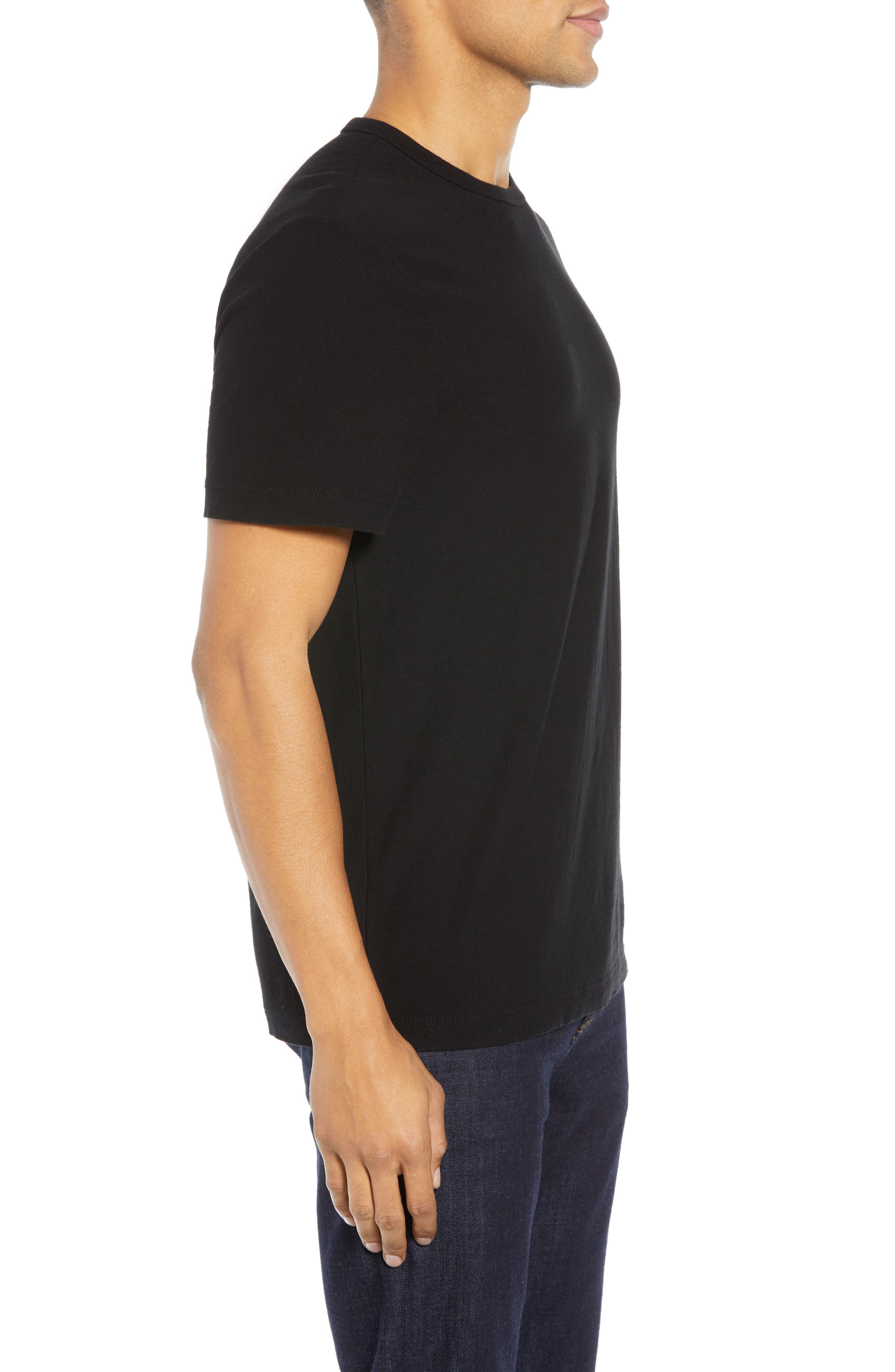 Microstripe Graphic T-Shirt,                             Alternate thumbnail 3, color,                             001