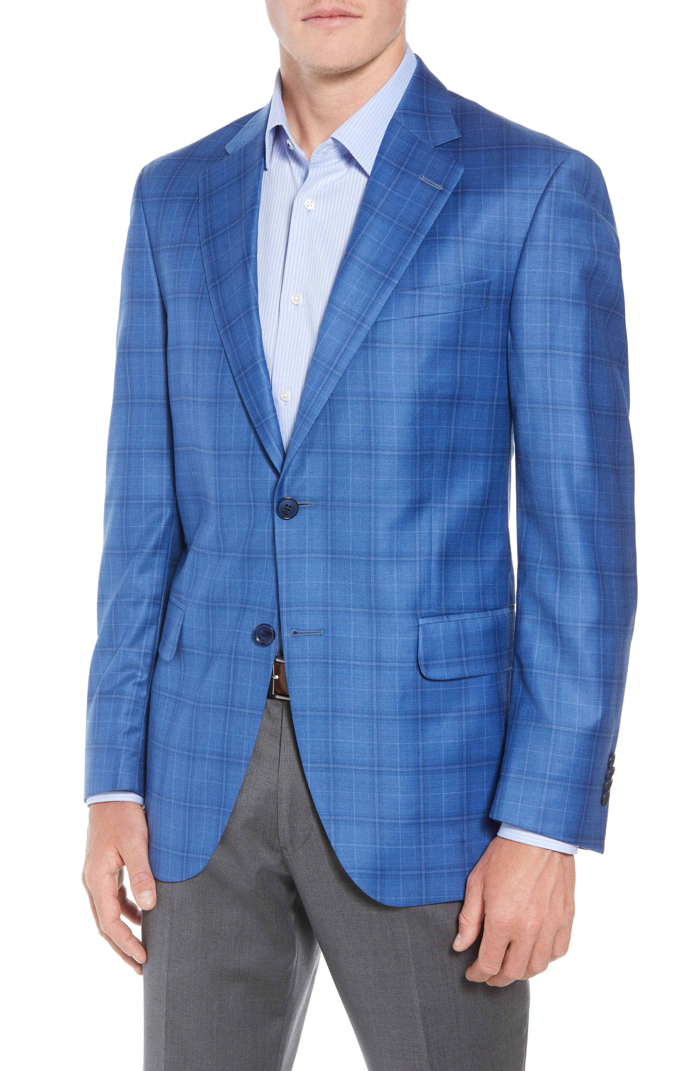 Flynn Classic Fit Wool Sport Coat,                             Main thumbnail 1, color,                             BLUE