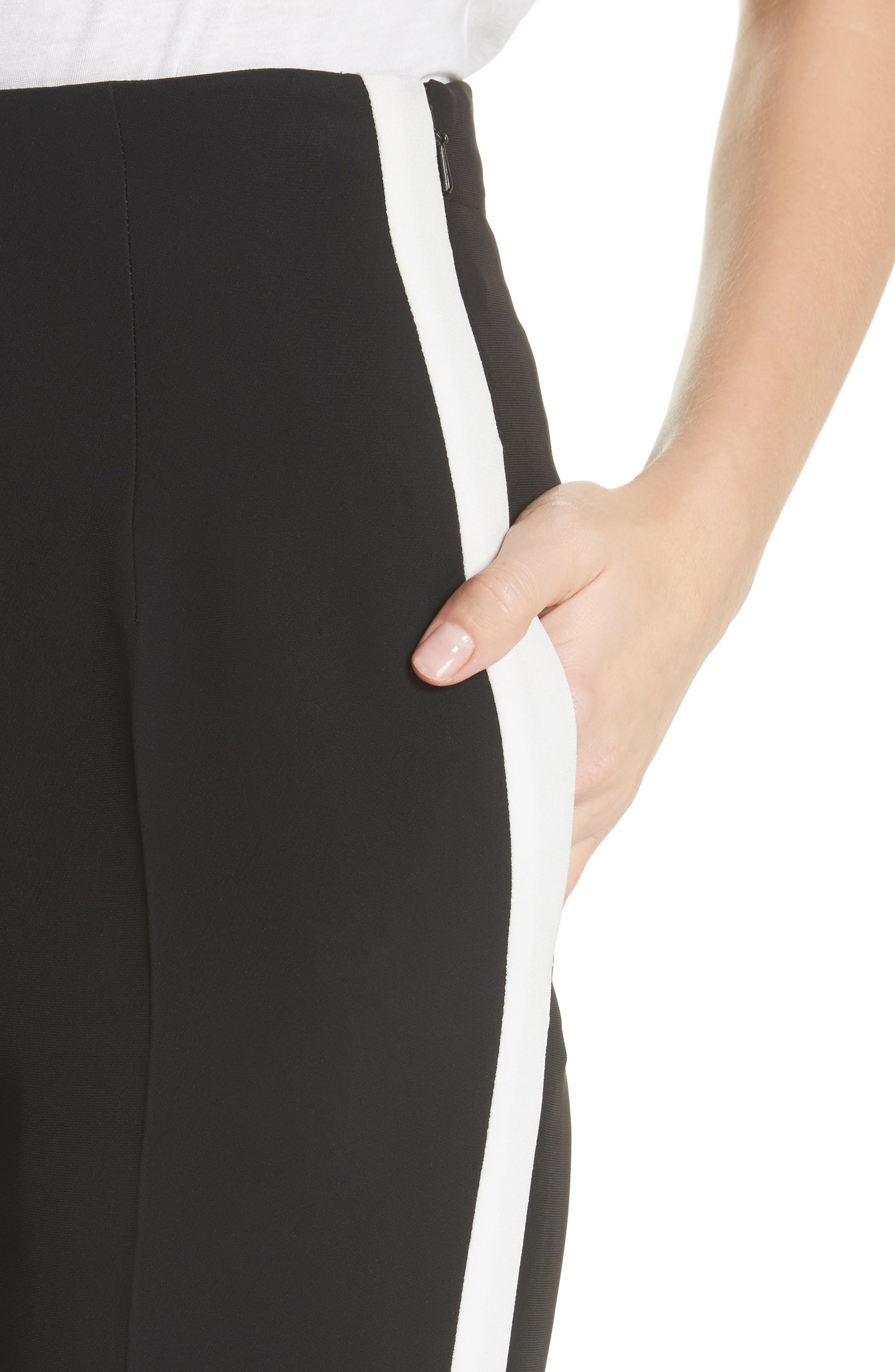 Elliot Side Stripe Pants,                             Alternate thumbnail 4, color,                             001