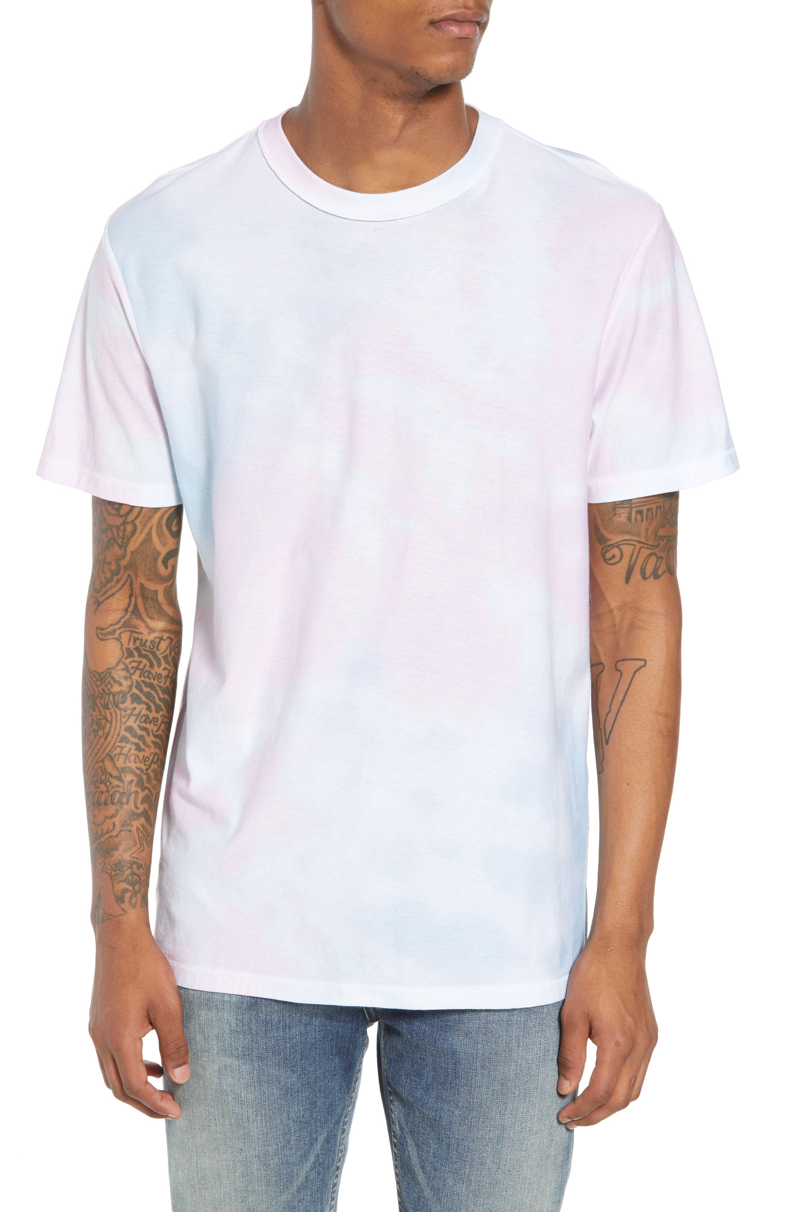 Reverse Tie Dye T-Shirt,                             Main thumbnail 1, color,                             100