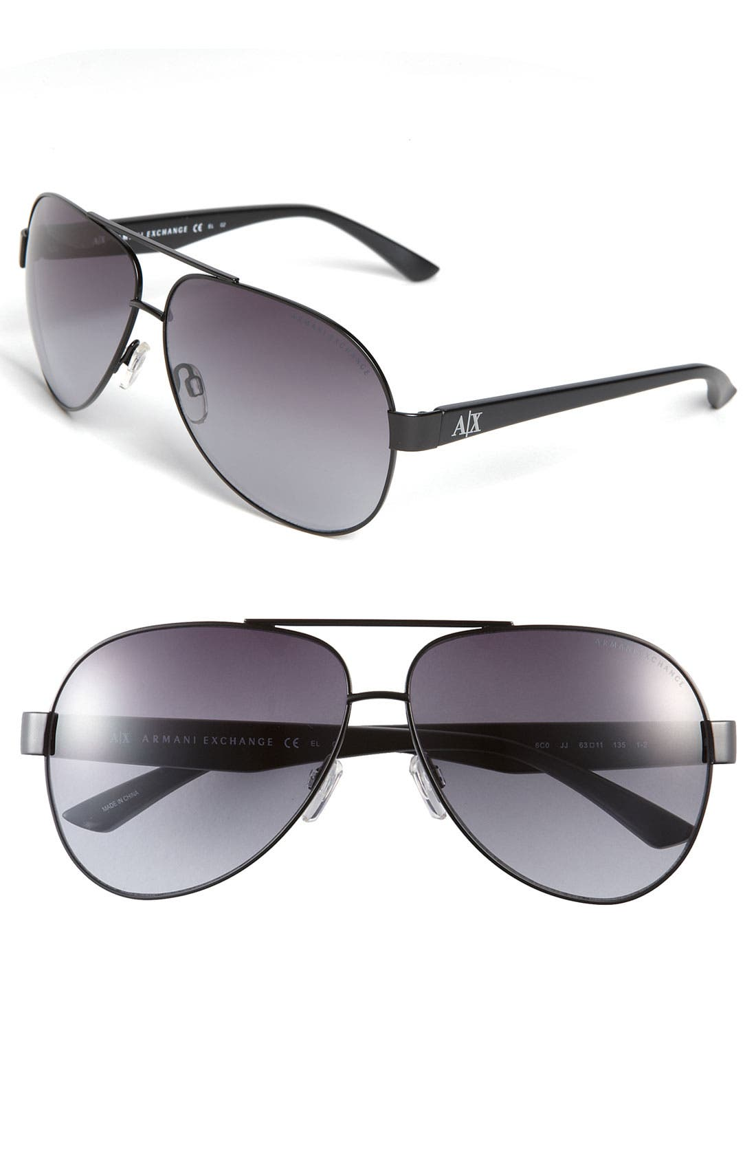 Metal Aviator Sunglasses,                         Main,                         color, 002
