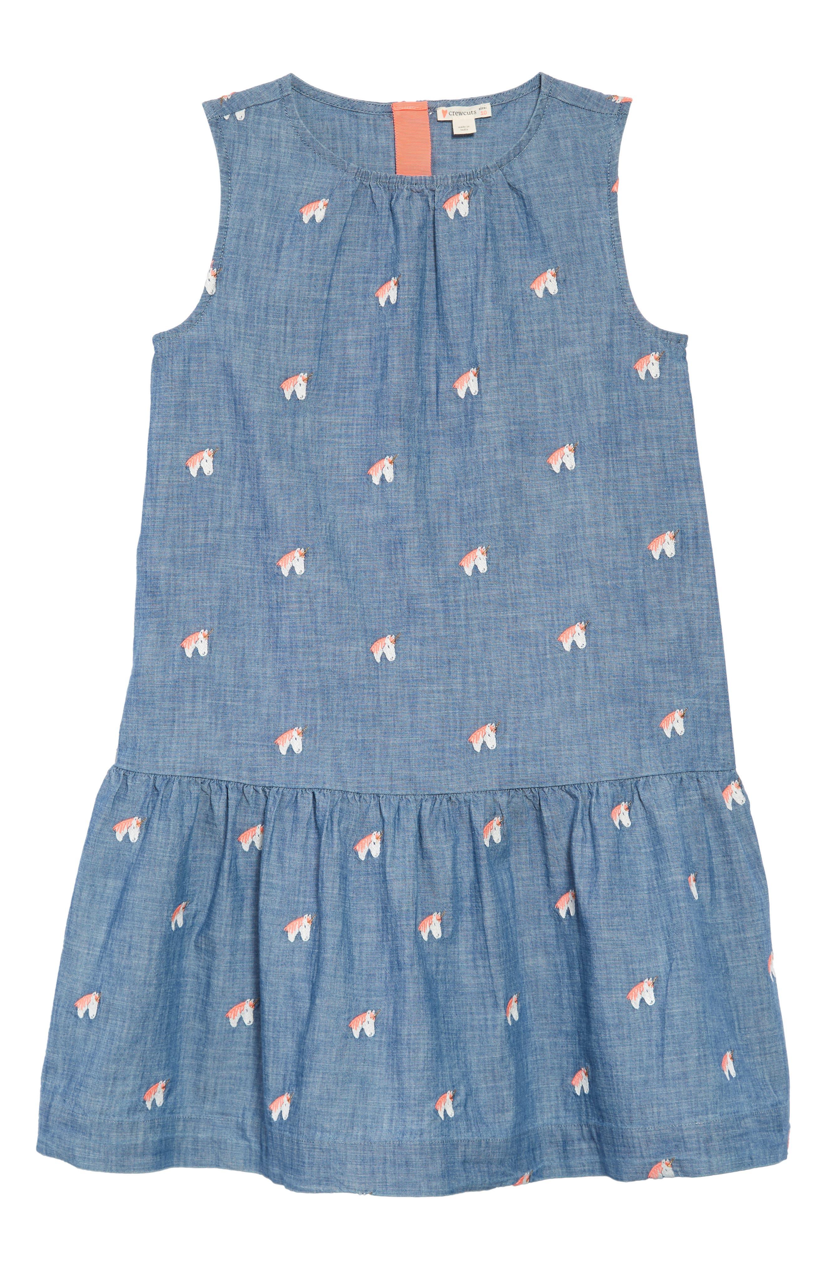 Unicorn Chambray Dress