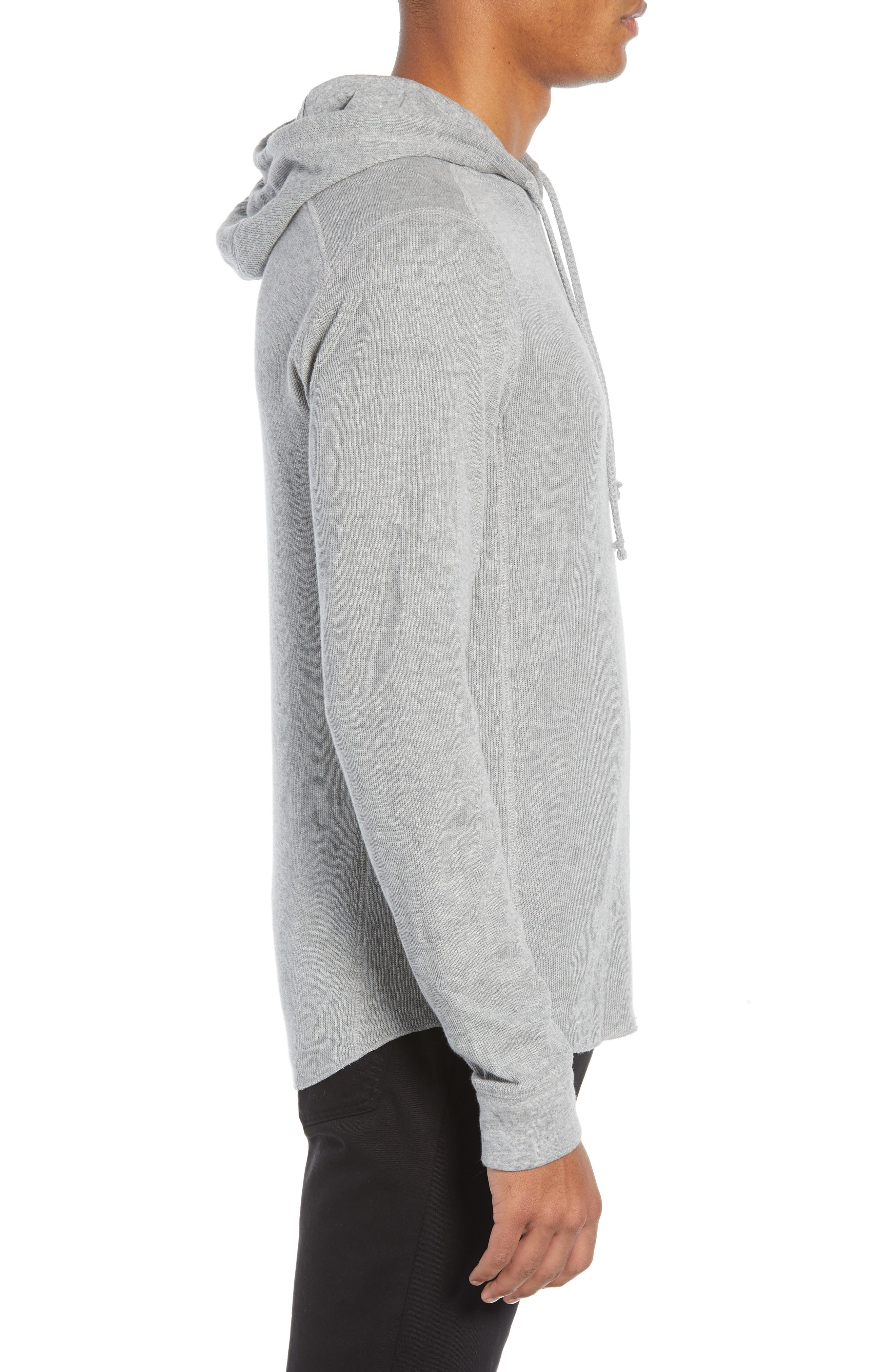 Double Knit Hoodie,                             Alternate thumbnail 3, color,                             H STEEL