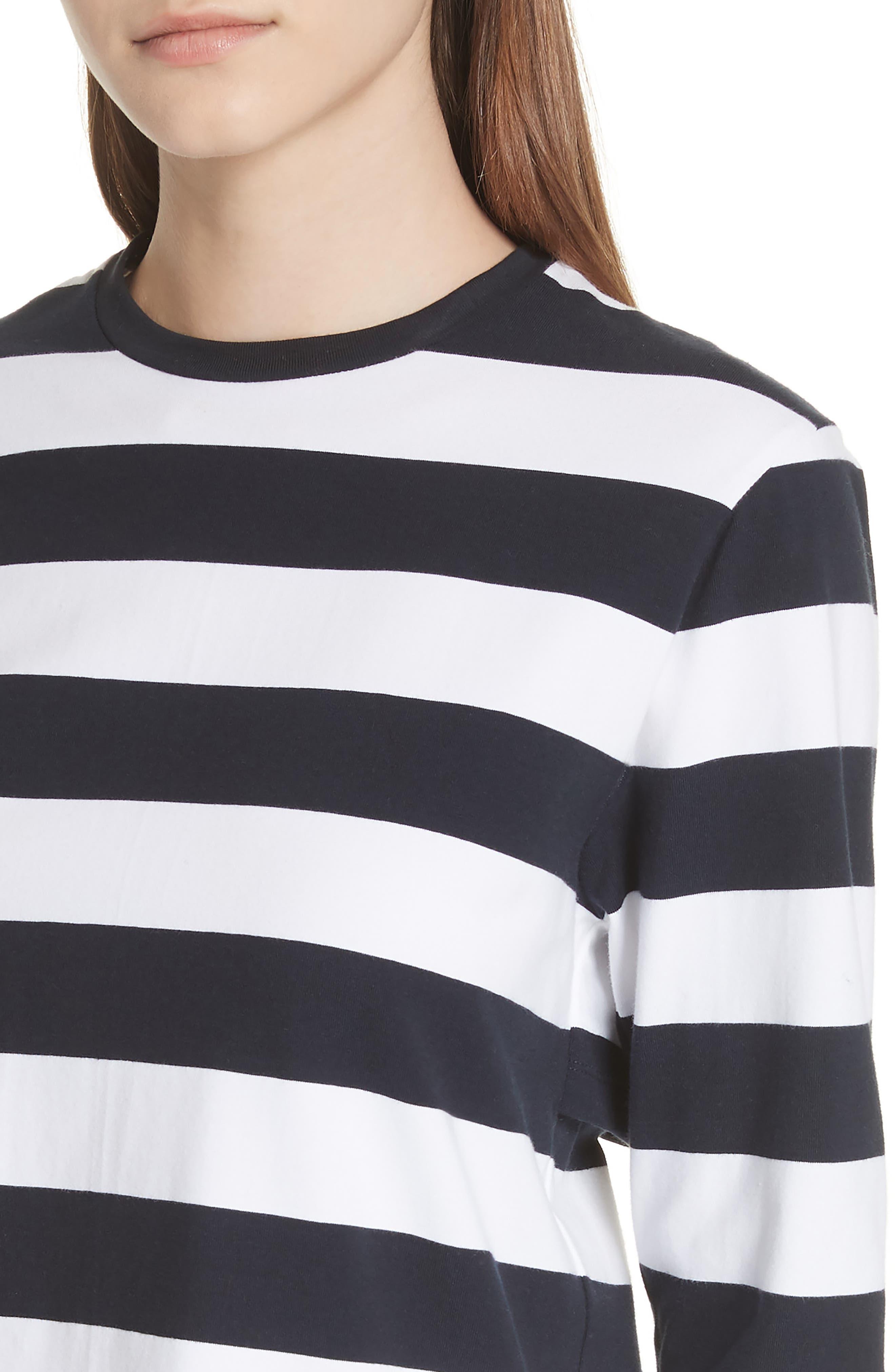 Long Sleeve Stripe Tee,                             Alternate thumbnail 4, color,                             412