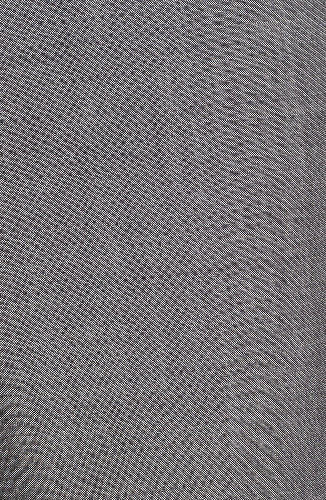 BOSS HUGO BOSS 'Jeffrey US' Flat Front Pinpoint Wool Trousers,                             Alternate thumbnail 2, color,                             022