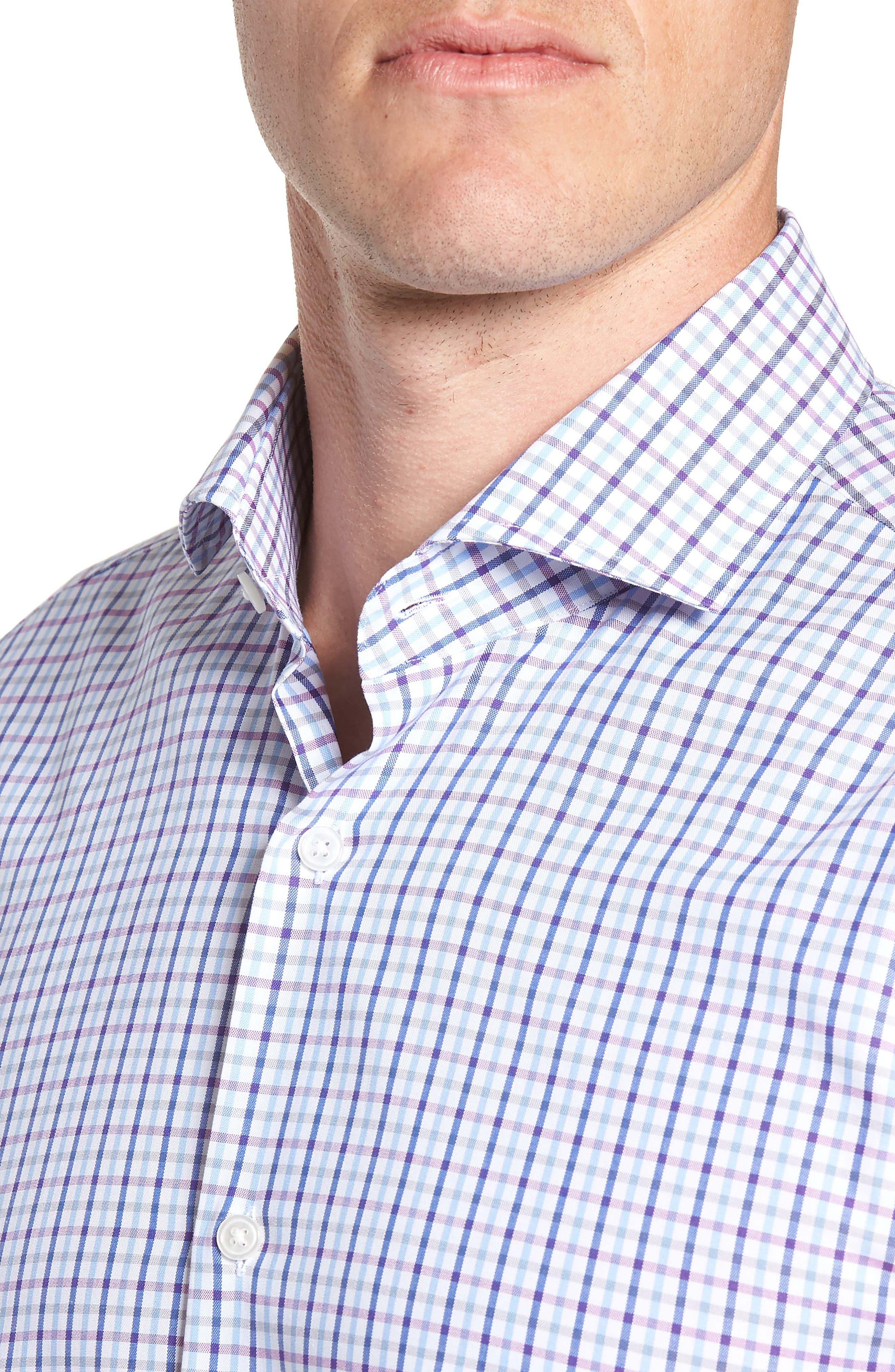 Sharp Fit Mark Check Dress Shirt,                             Alternate thumbnail 2, color,                             PURPLE