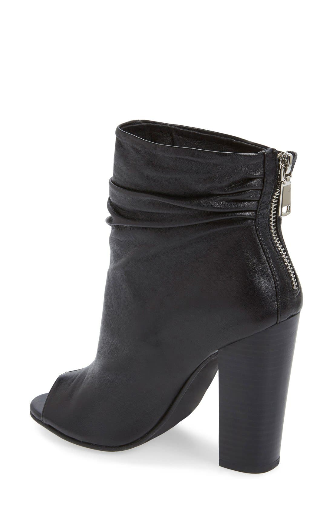 'Liam' Peep Toe Bootie,                             Alternate thumbnail 2, color,                             001