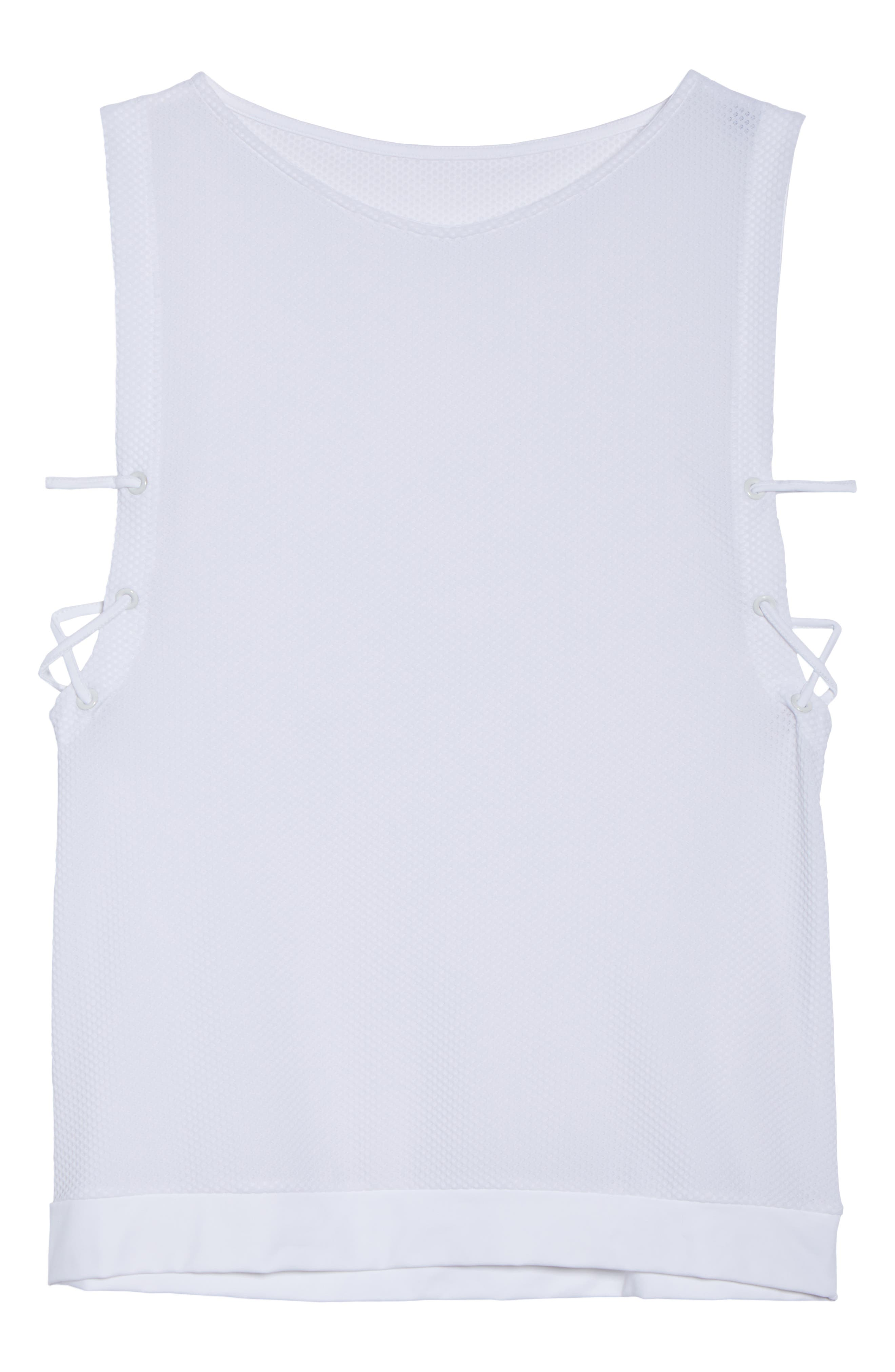 Lace-Up Tank,                             Alternate thumbnail 7, color,                             100