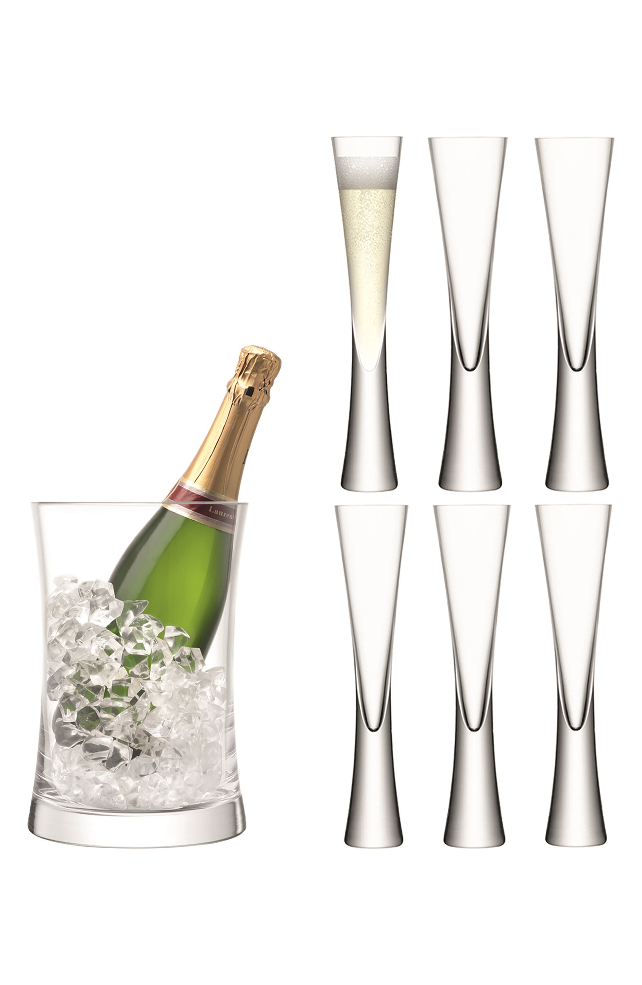 Moya Champagne Set,                             Main thumbnail 1, color,                             CLEAR
