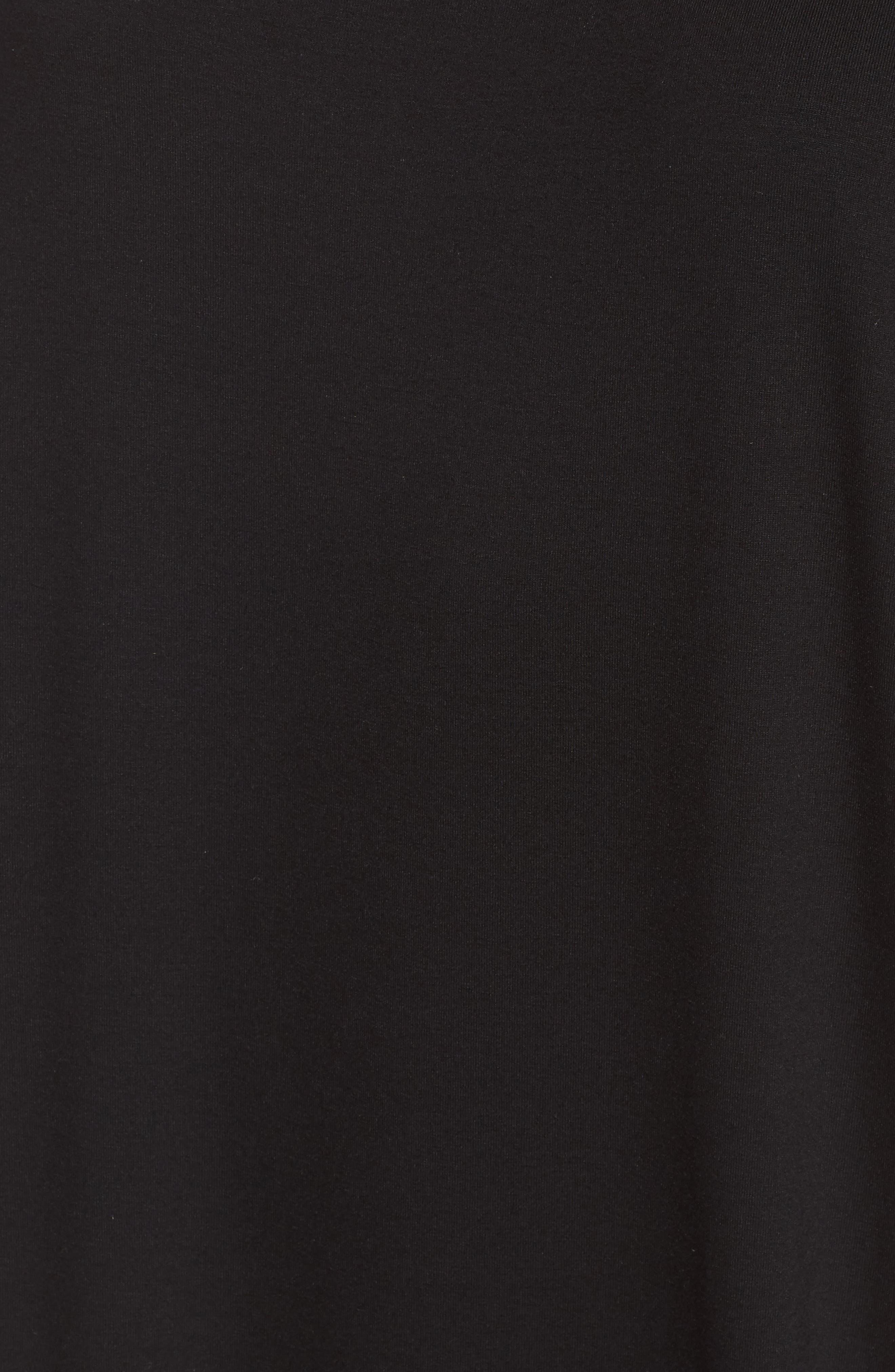 Asymmetrical Jersey Shift Dress,                             Alternate thumbnail 5, color,                             001