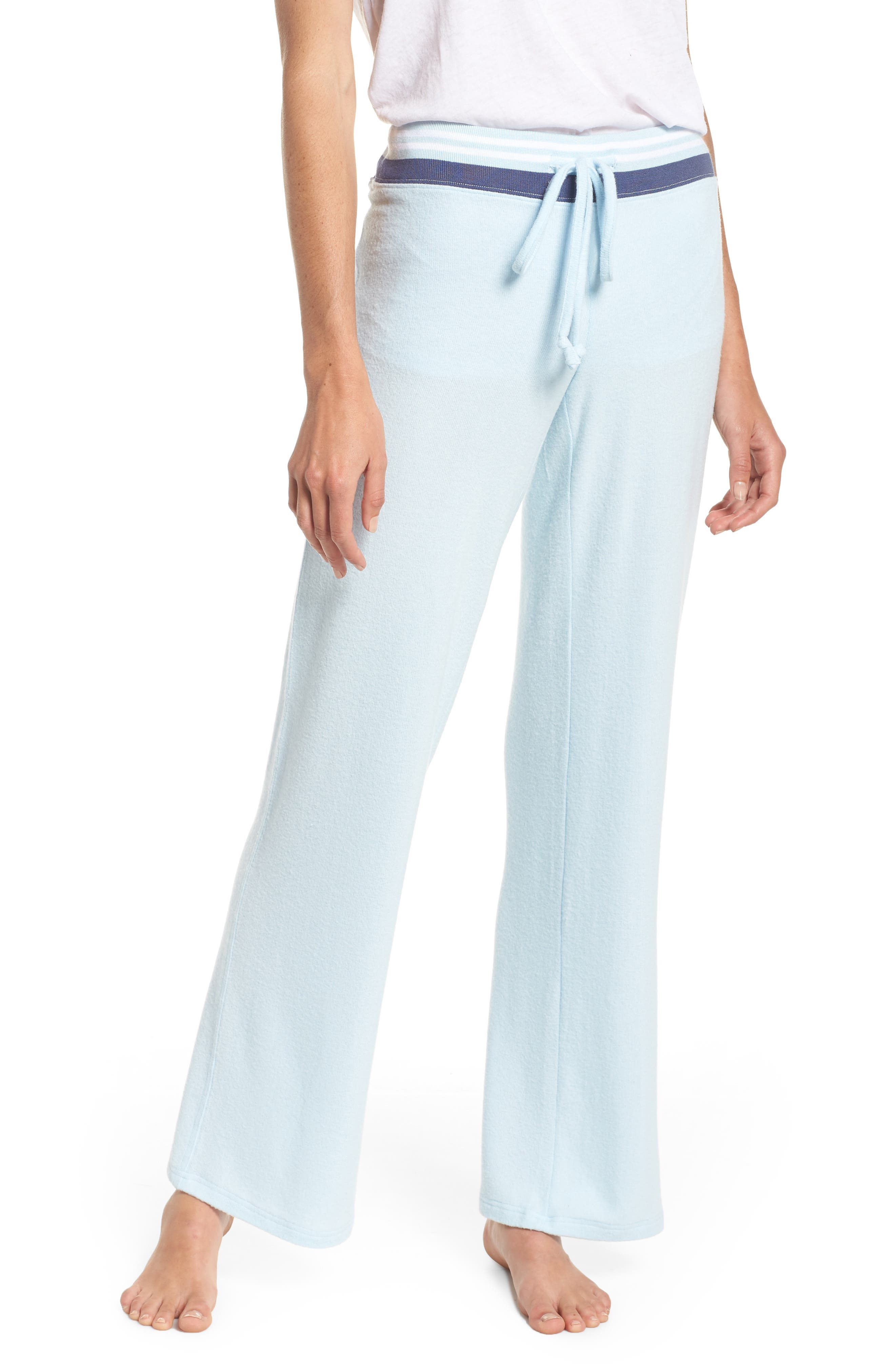 Best Boyfriend Brushed Hacci Lounge Pants,                             Main thumbnail 1, color,                             BLUE OMPHALODES