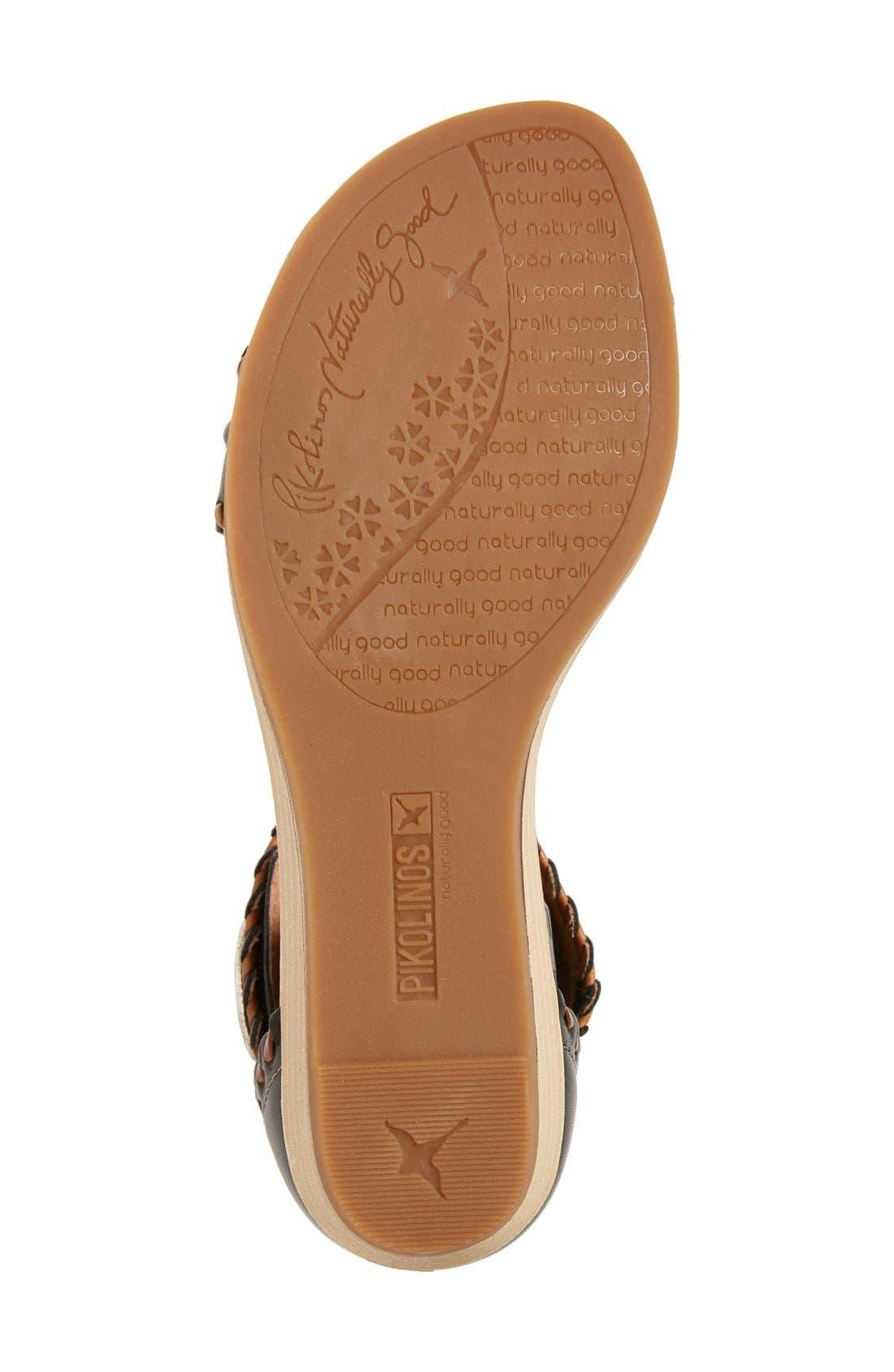 'Alcudia' Ankle Strap Sandal,                             Alternate thumbnail 2, color,                             001