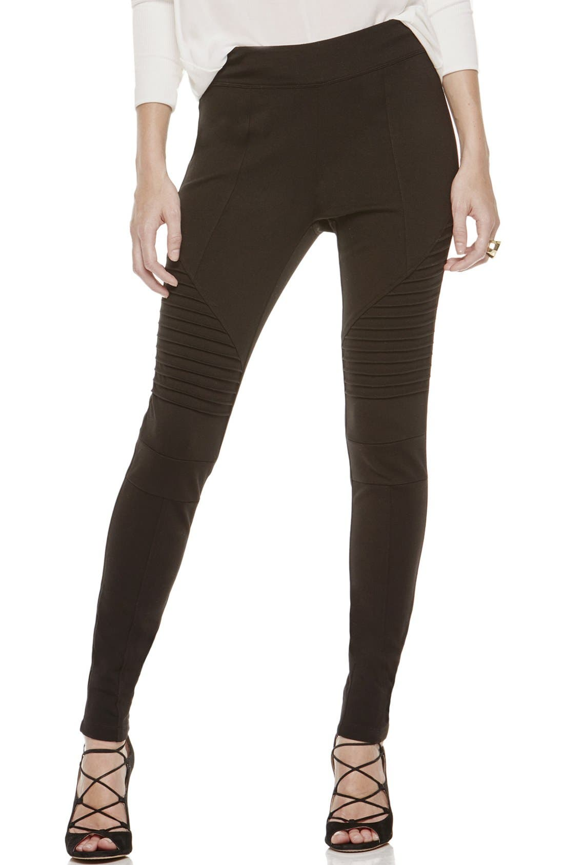Two by Vince Camuto Ponte Leggings,                             Main thumbnail 1, color,                             RICH BLACK