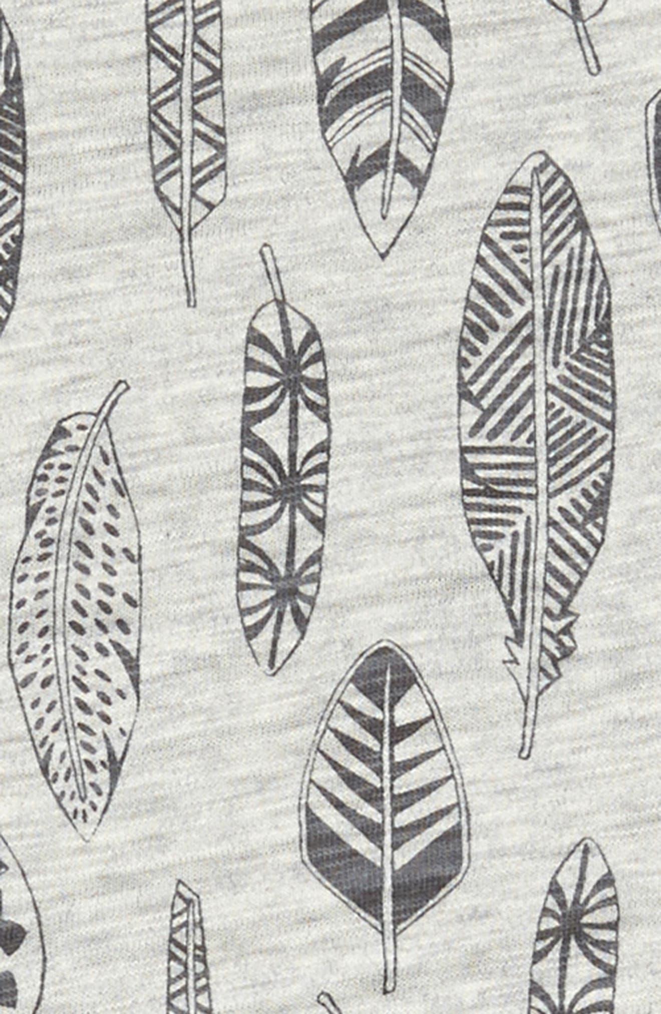 Feather Ruffle Sleeve Dress,                             Alternate thumbnail 3, color,