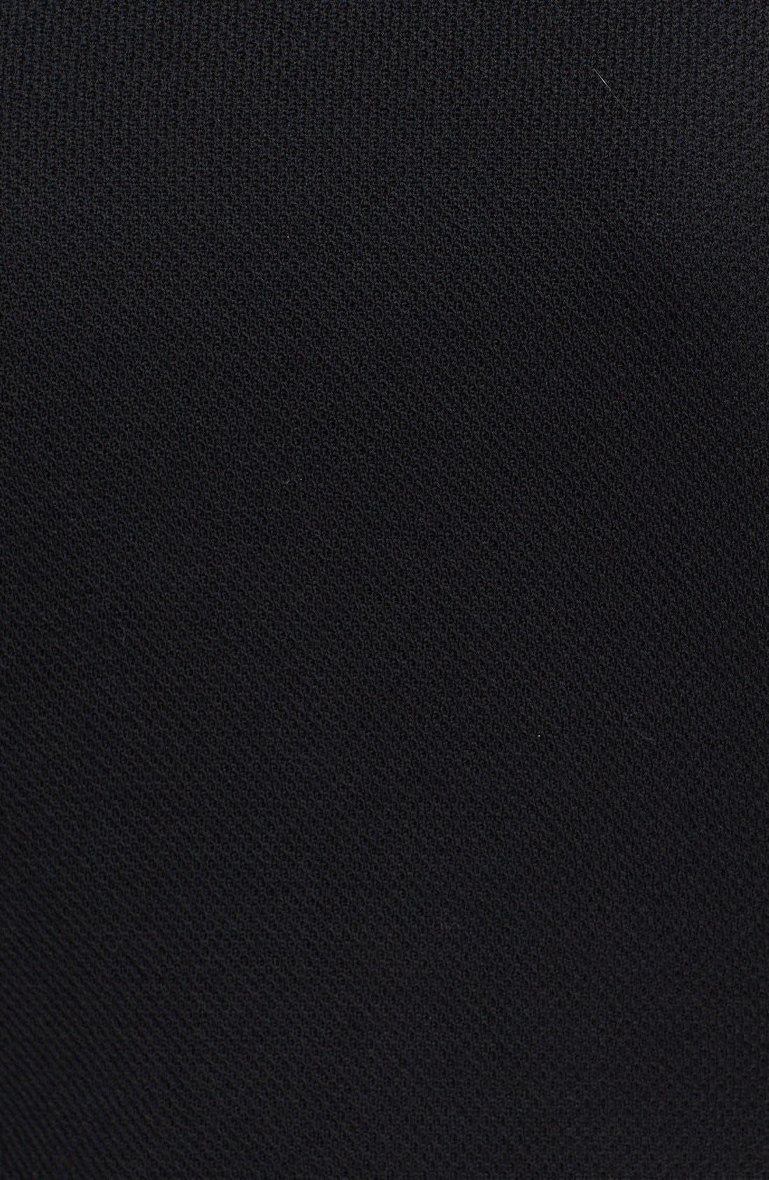 Milano Piqué Knit Pencil Skirt,                             Alternate thumbnail 5, color,                             001