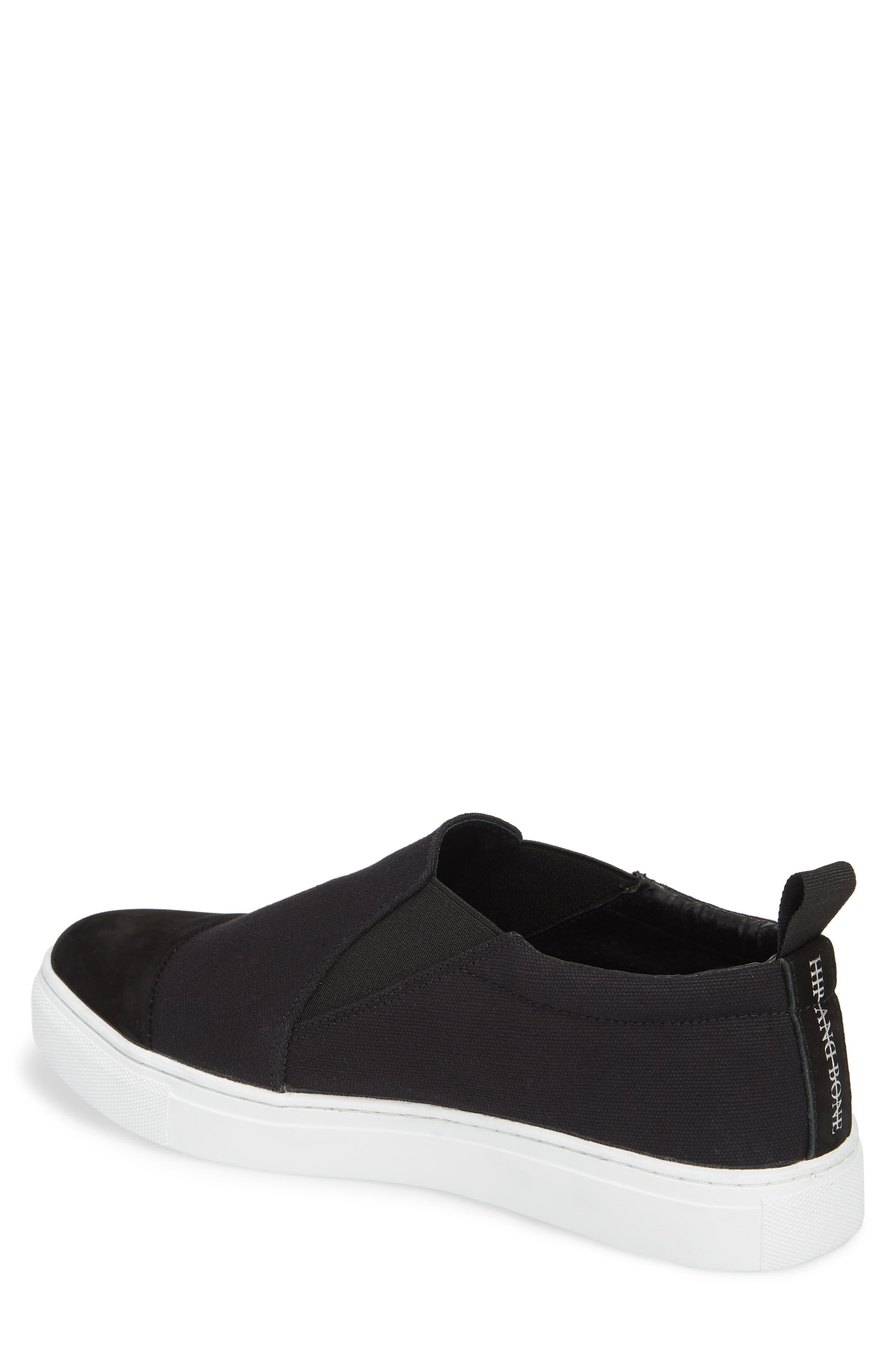 Canvas Suede Slider Slip-On Sneaker,                             Alternate thumbnail 2, color,                             001