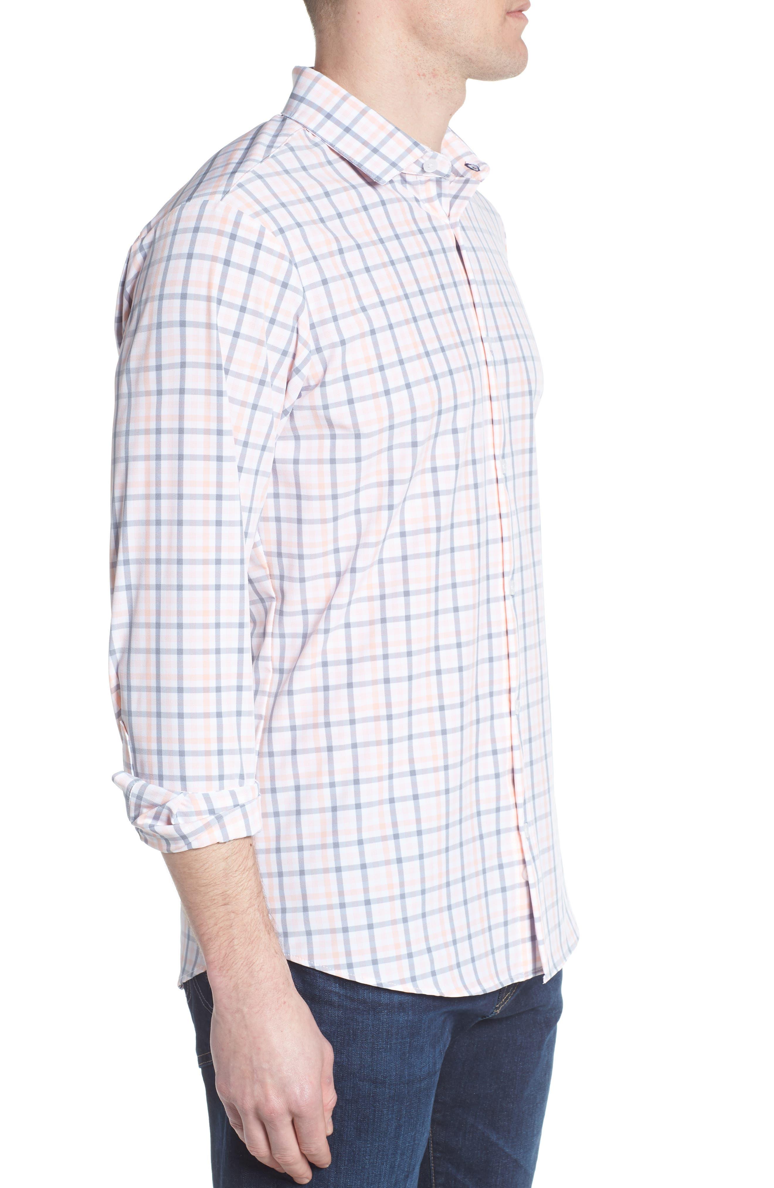 Kimble Check Sport Shirt,                             Alternate thumbnail 3, color,                             650