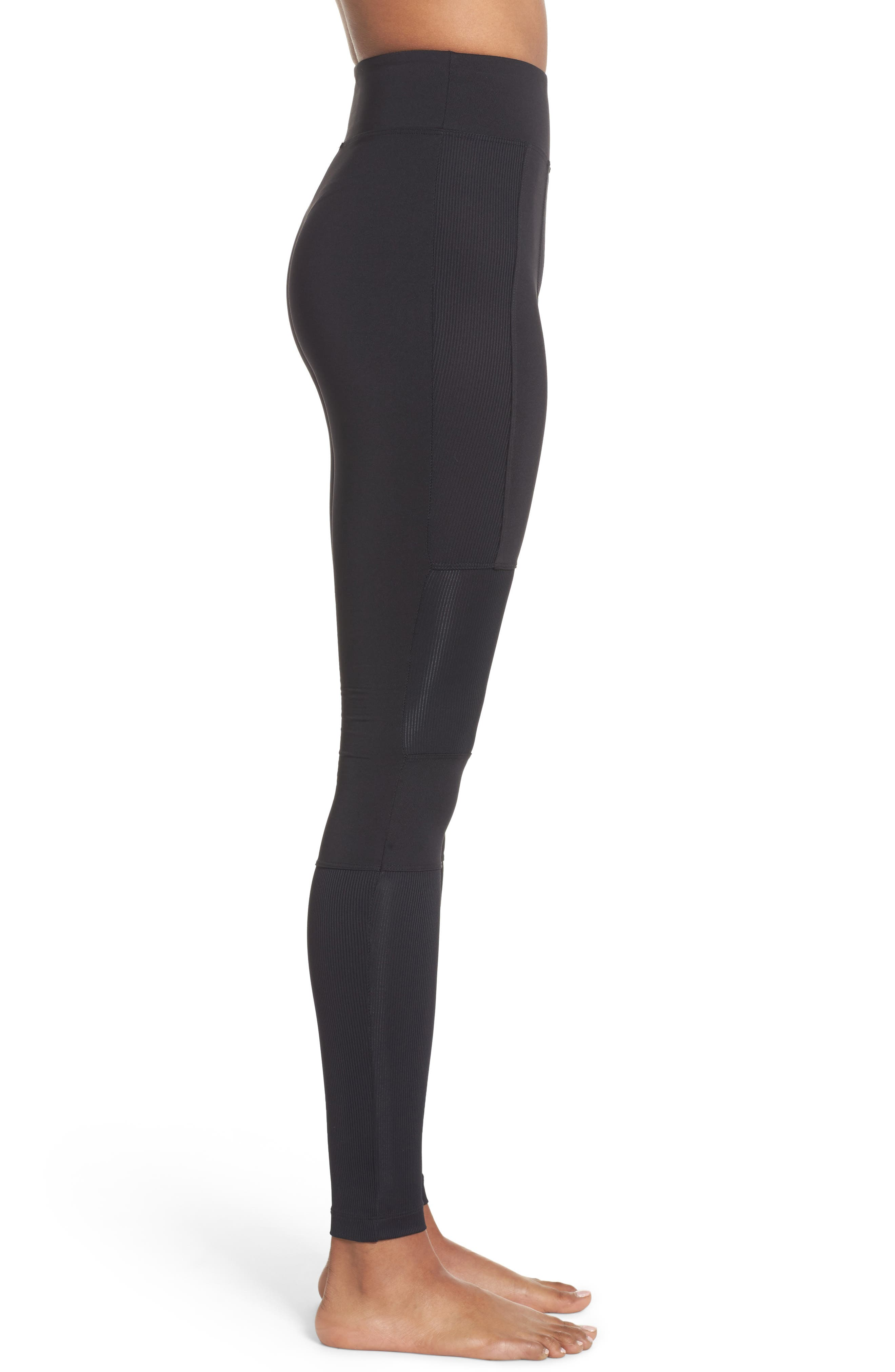 Rappel High Waist Leggings,                             Alternate thumbnail 3, color,                             001