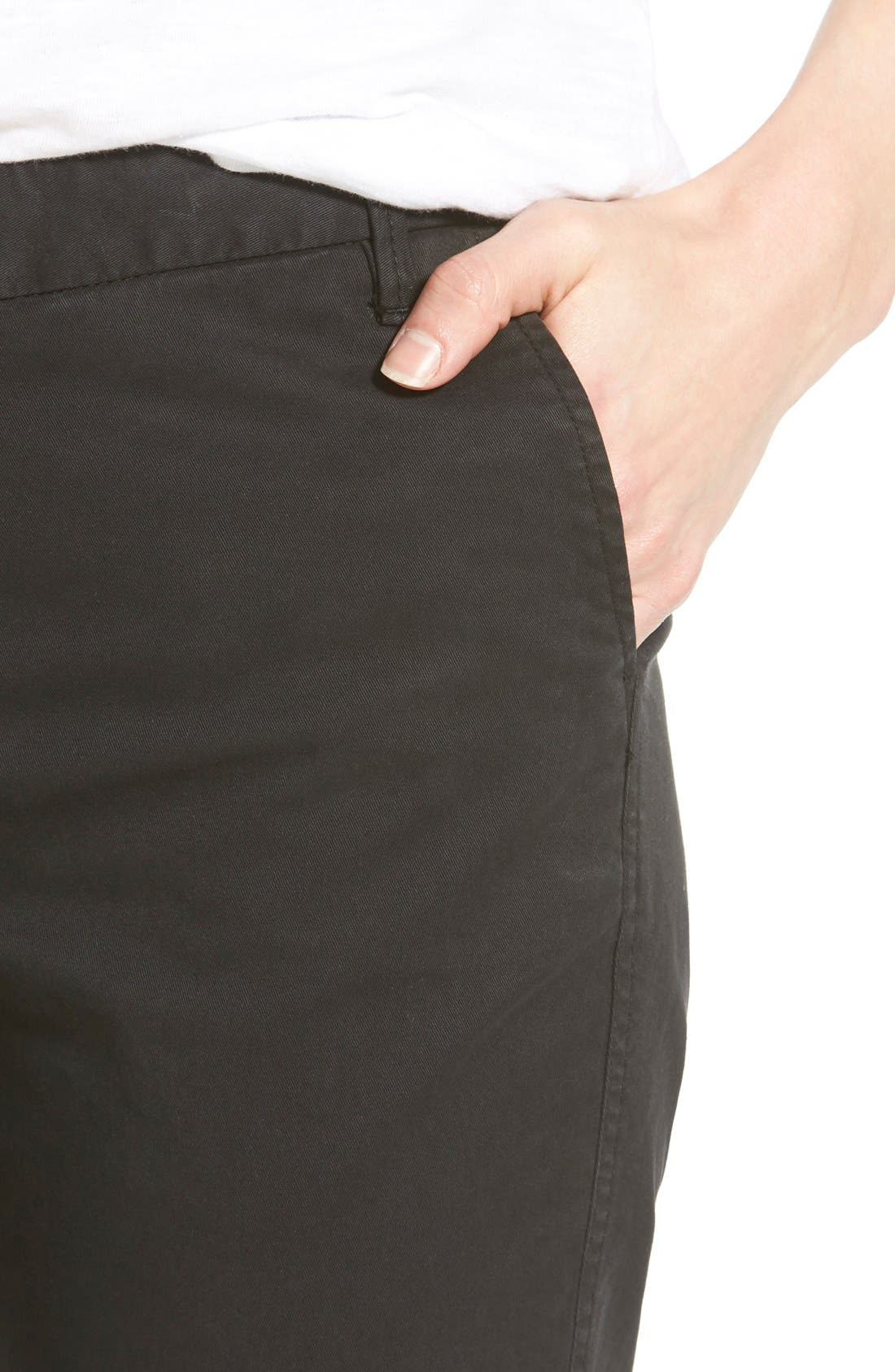 Chino Ankle Pants,                             Alternate thumbnail 3, color,                             001