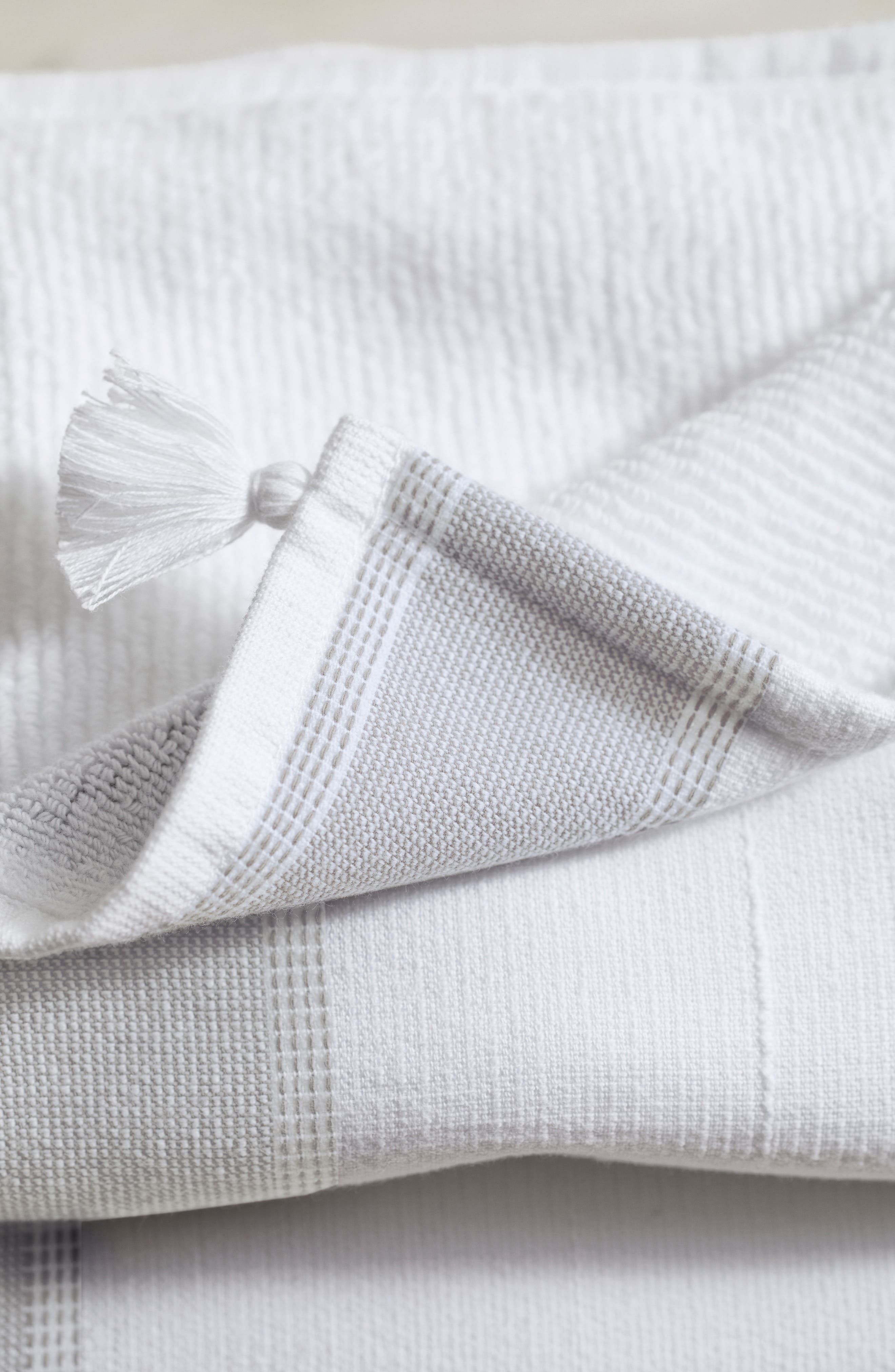 THE WHITE COMPANY,                             St. Ives Hammam Hand Towel,                             Alternate thumbnail 3, color,                             100