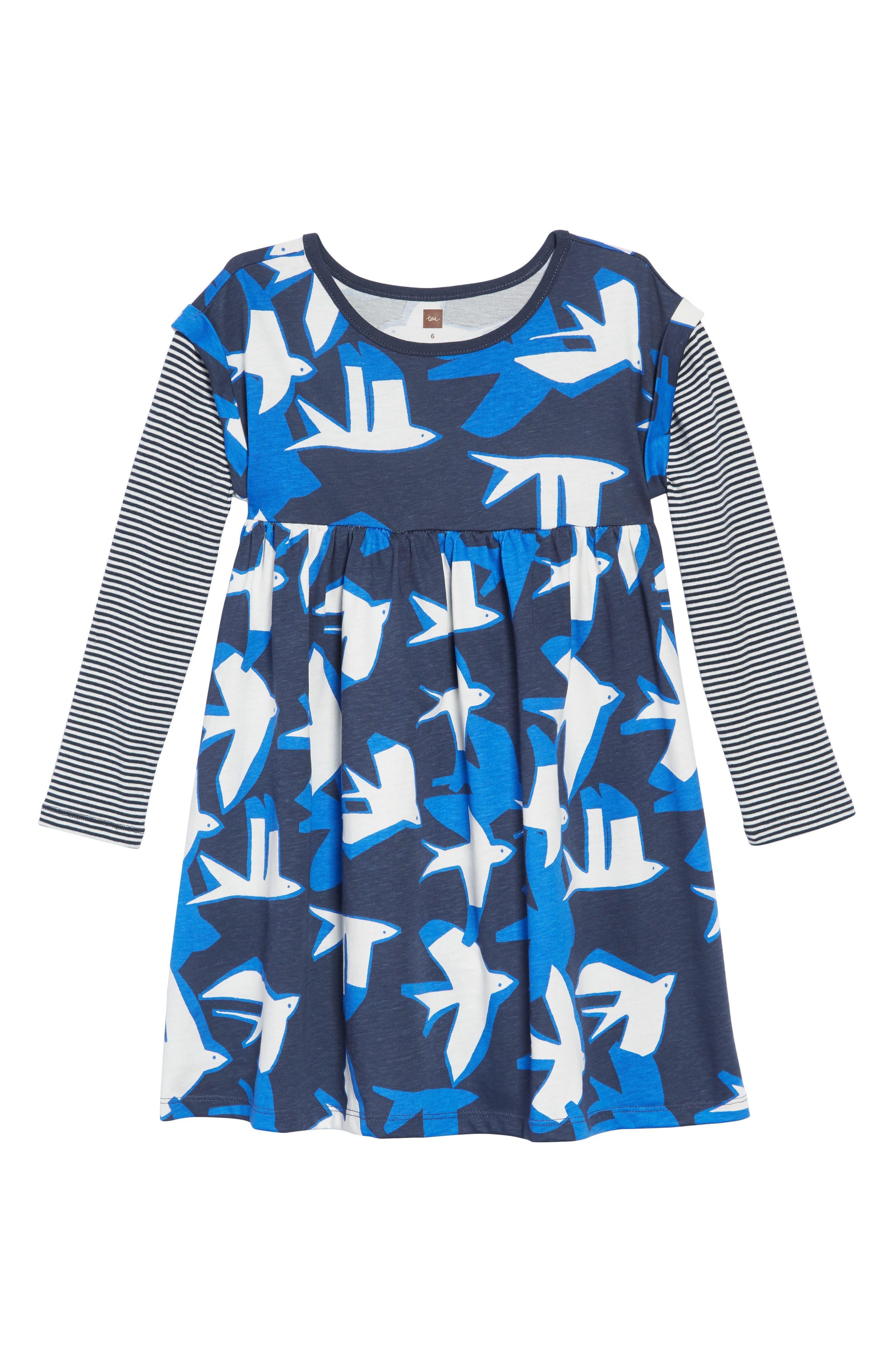 Print Layered Dress,                         Main,                         color, 400