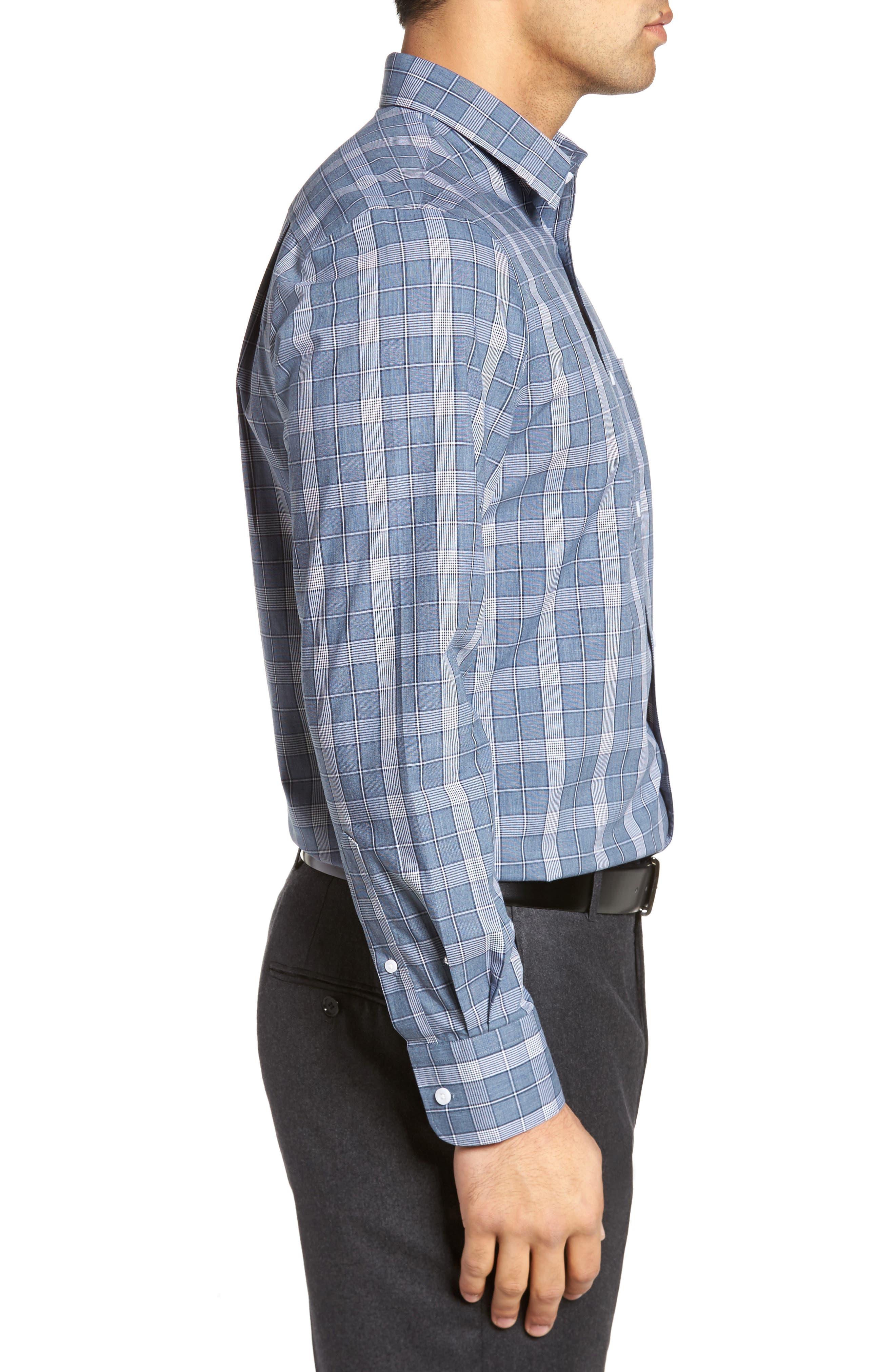Smartcare<sup>™</sup> Regular Fit Plaid Sport Shirt,                             Alternate thumbnail 20, color,