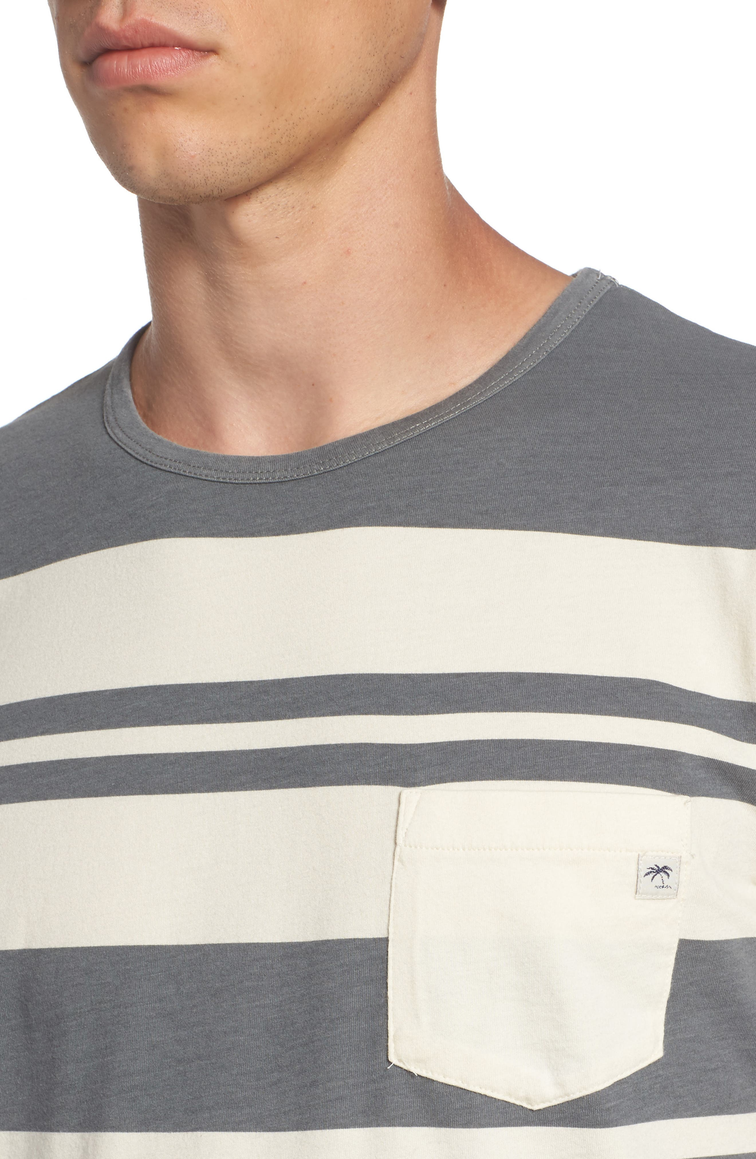 Lokea Stripe Pocket T-Shirt,                             Alternate thumbnail 4, color,                             012