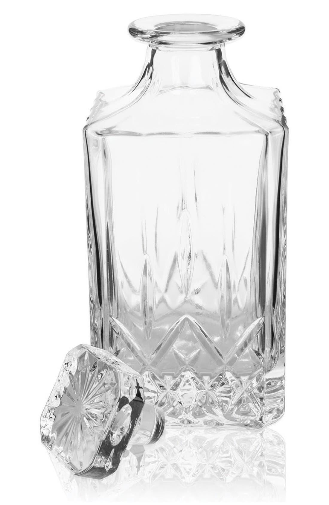 Viski Glass Wine Decanter,                             Main thumbnail 1, color,                             WHITE