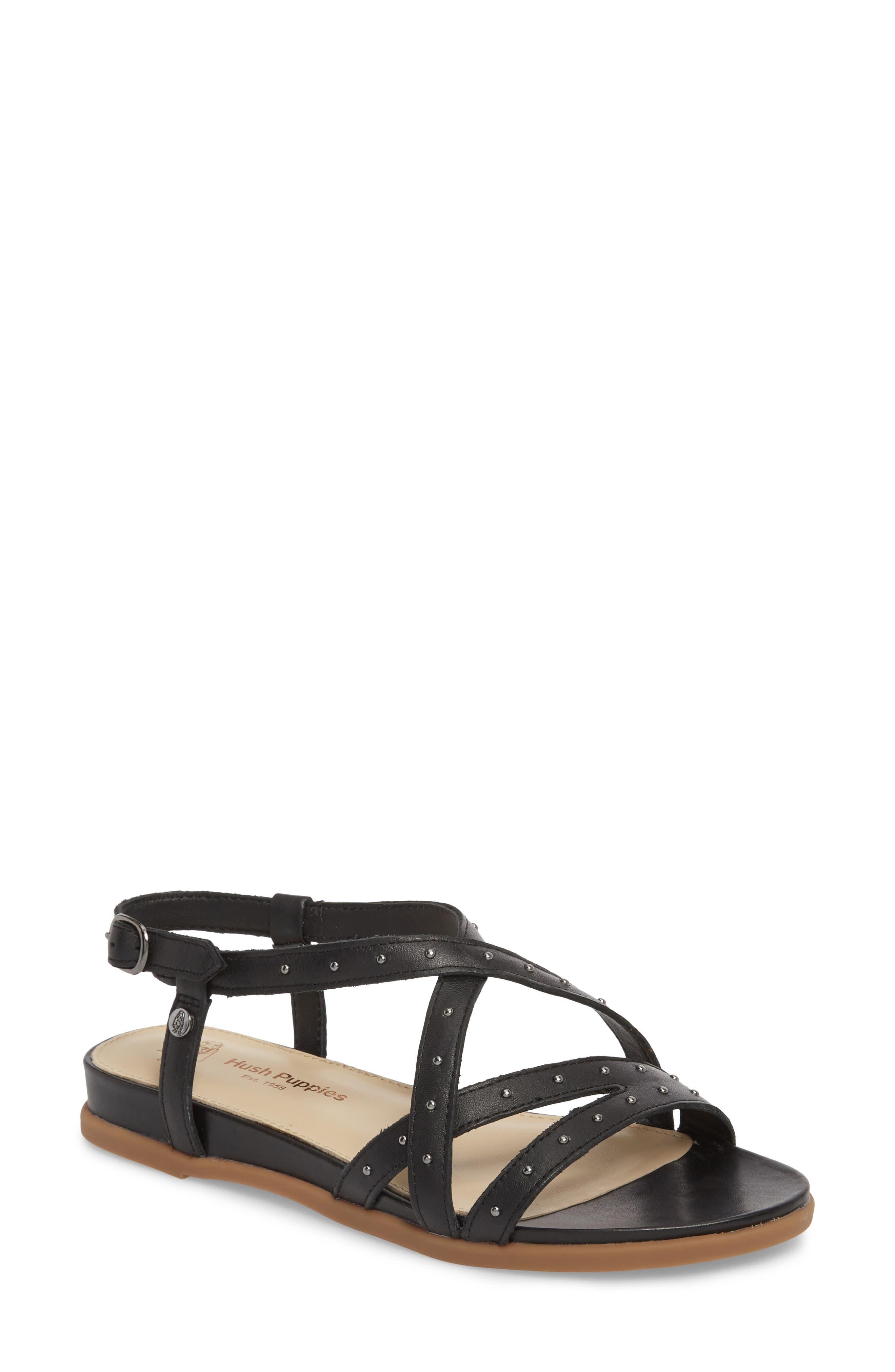 Dalmatian Studded Sandal,                             Main thumbnail 1, color,