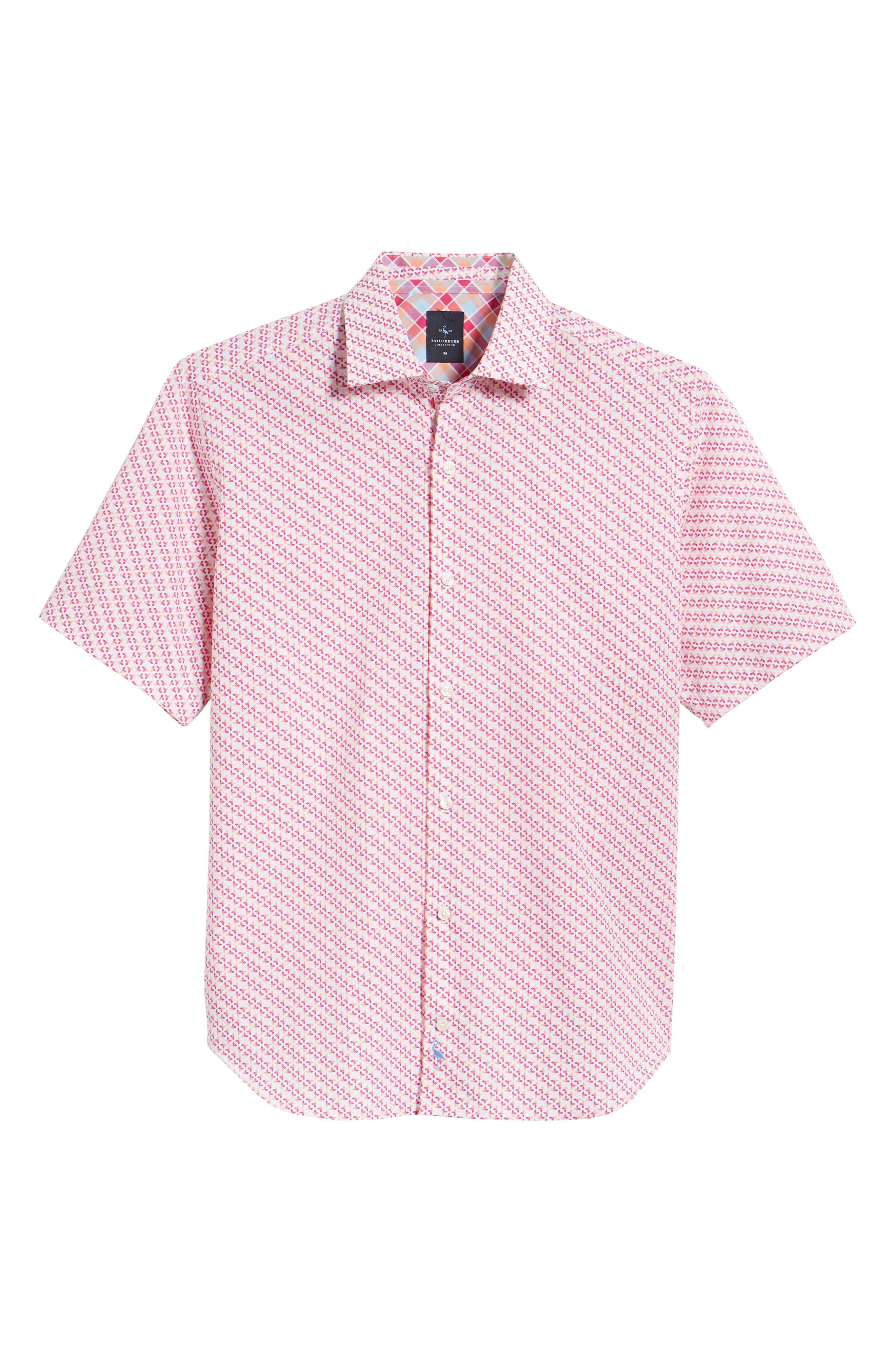Albert Regular Fit Butterfly Sport Shirt,                             Alternate thumbnail 6, color,