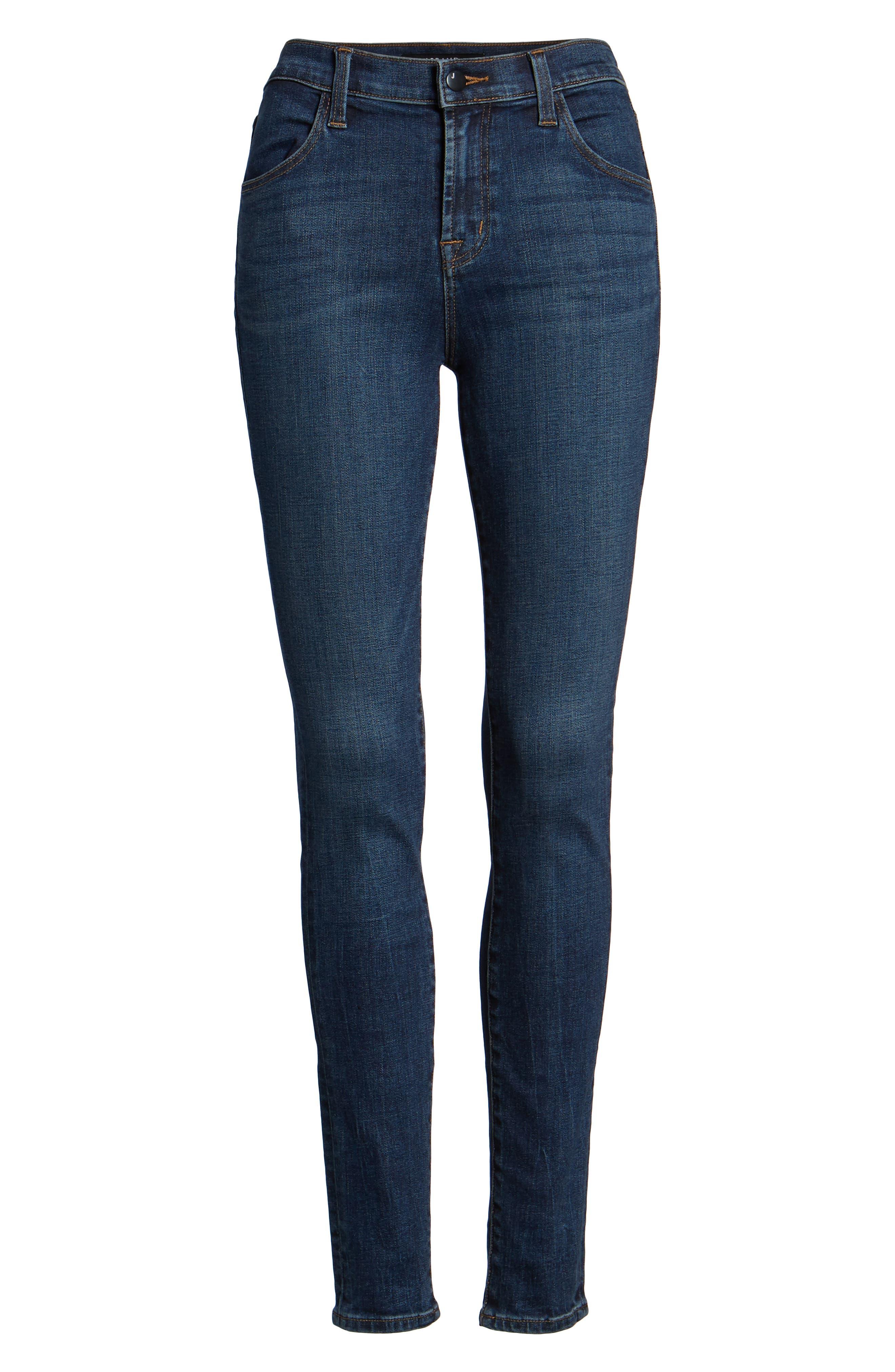 Maria High Waist Skinny Jeans,                             Alternate thumbnail 7, color,                             REVIVAL