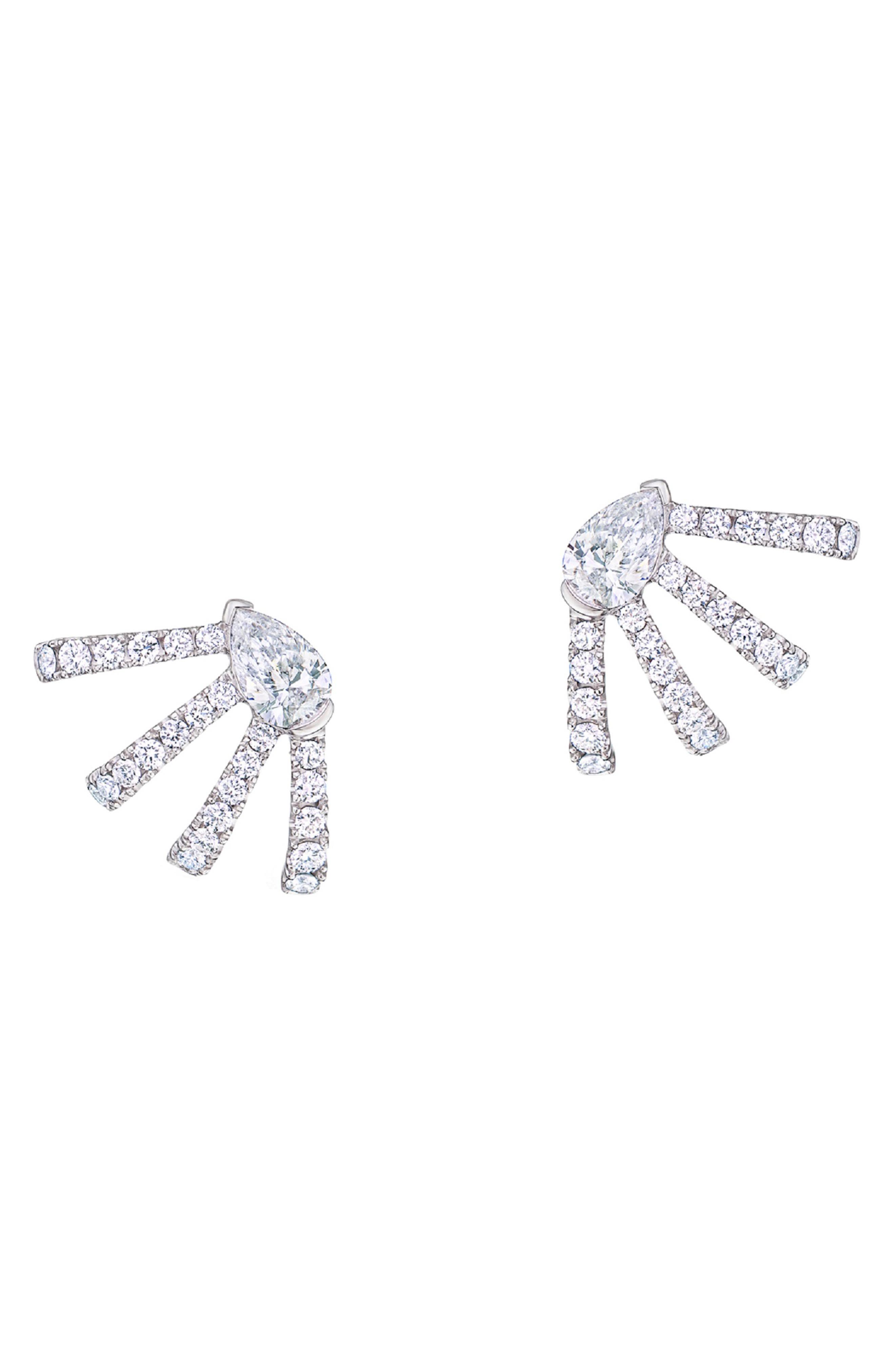 KWIAT Wraparound Diamond Stud Earrings in Yellow