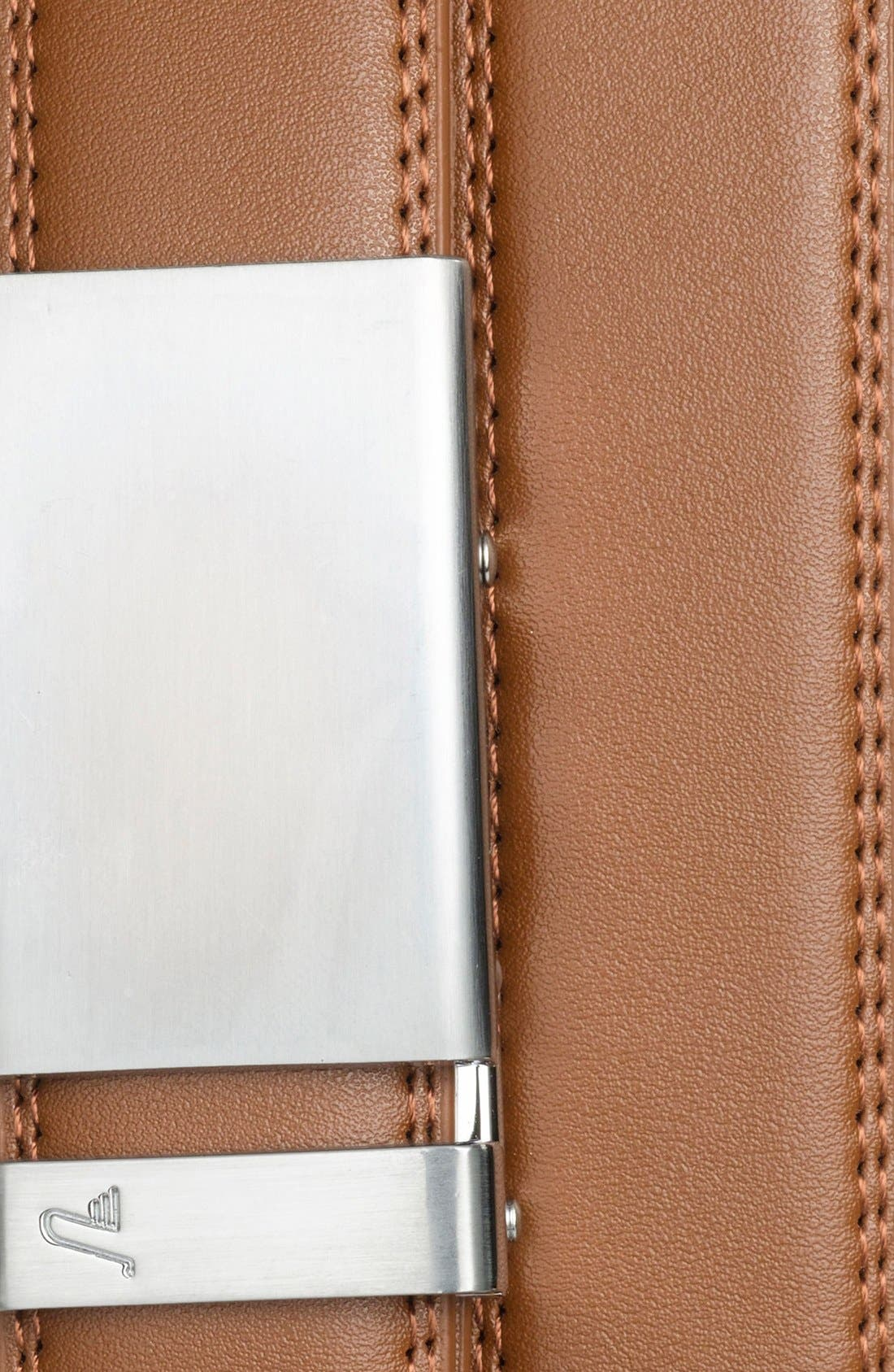 'Cocoa' Leather Belt,                             Alternate thumbnail 2, color,                             ALLOY/ TAN