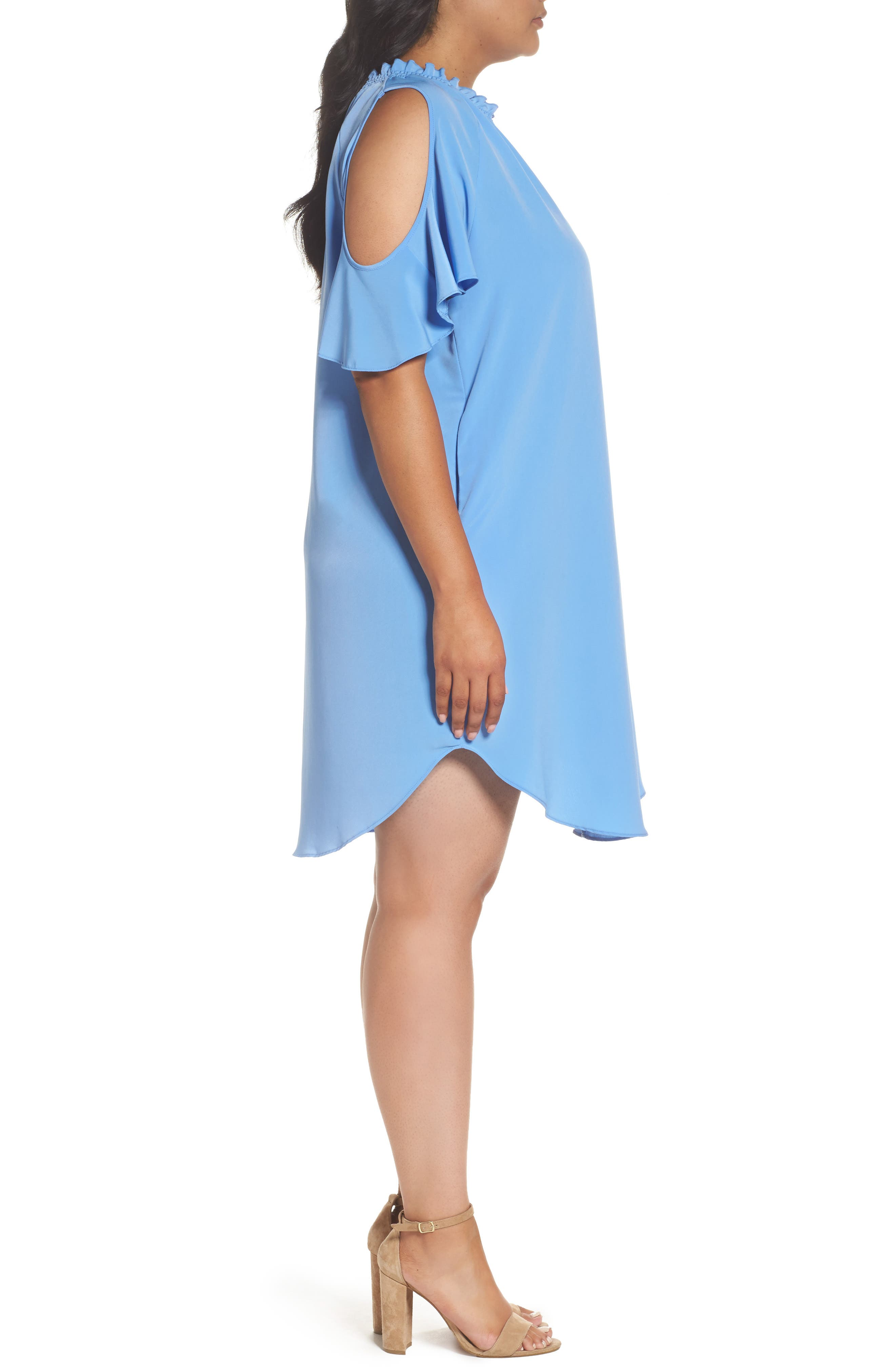 Elizabeth Cold Shoulder Dress,                             Alternate thumbnail 3, color,                             461