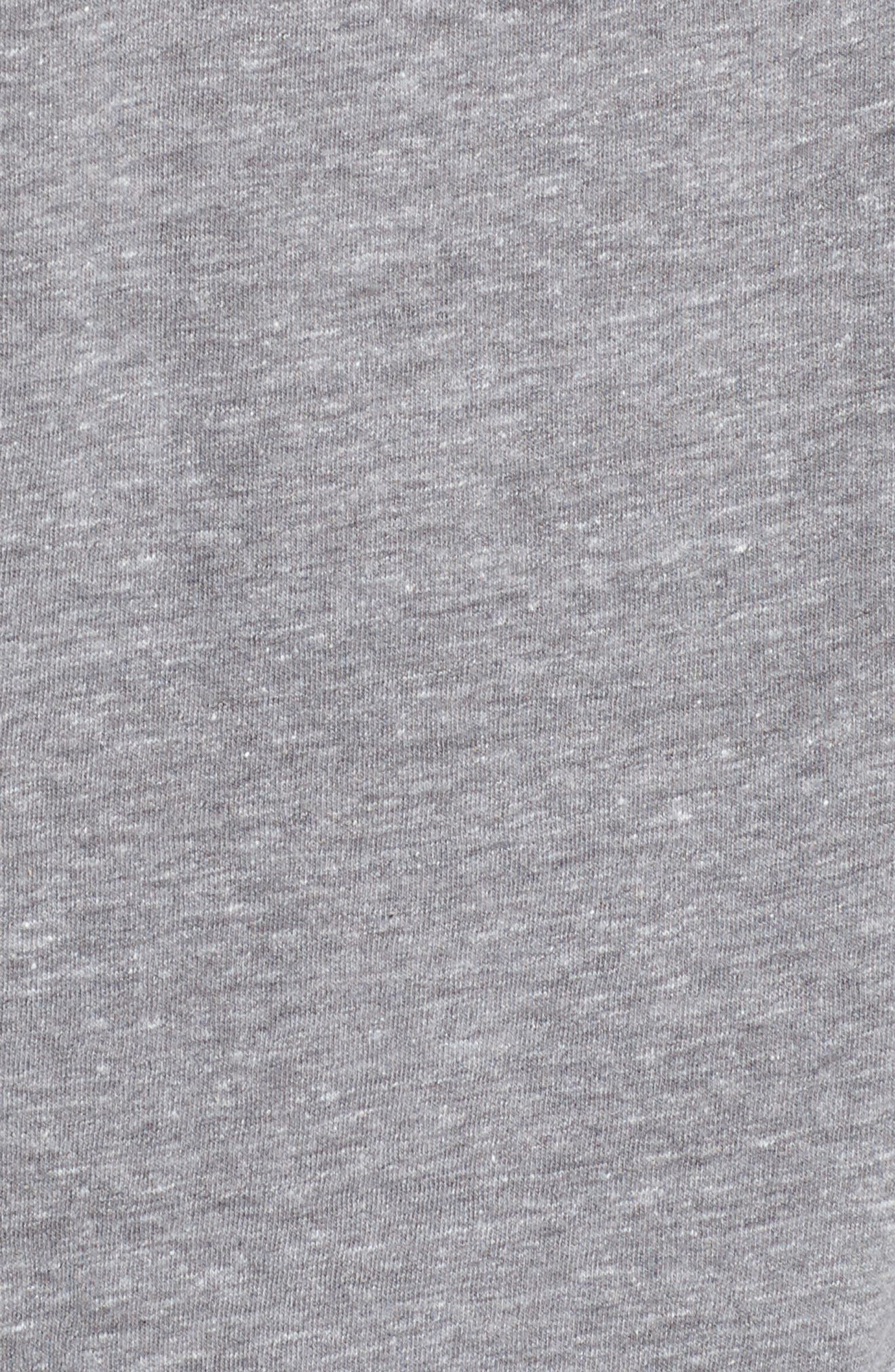 'Good Vibes' Graphic Tee,                             Alternate thumbnail 5, color,                             HEATHER GREY