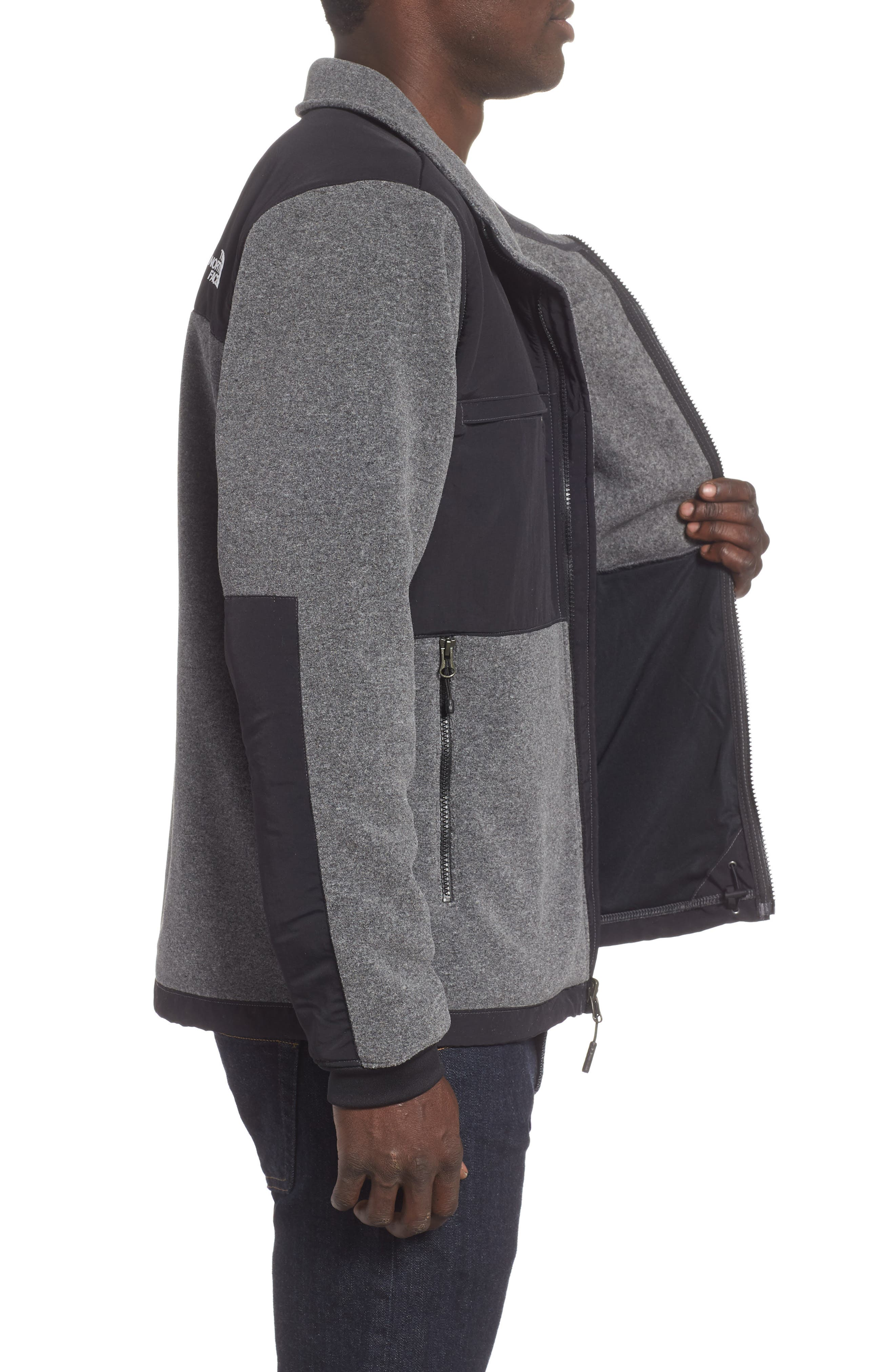THE NORTH FACE,                             Denali 2 Jacket,                             Alternate thumbnail 3, color,                             RECYCLED CHARCOAL GREY HEATHER
