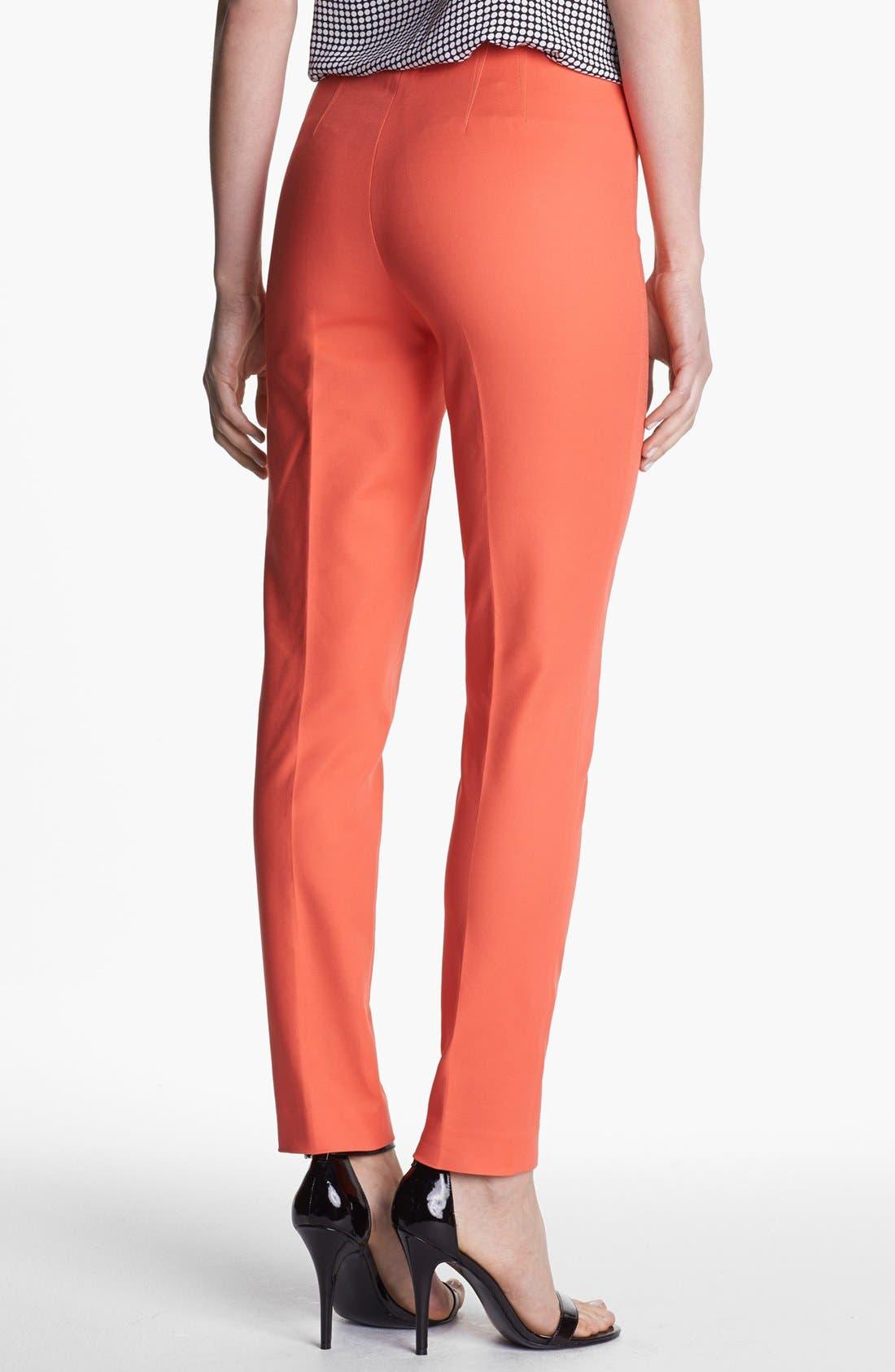 Side Zip Double Weave Pants,                             Alternate thumbnail 42, color,