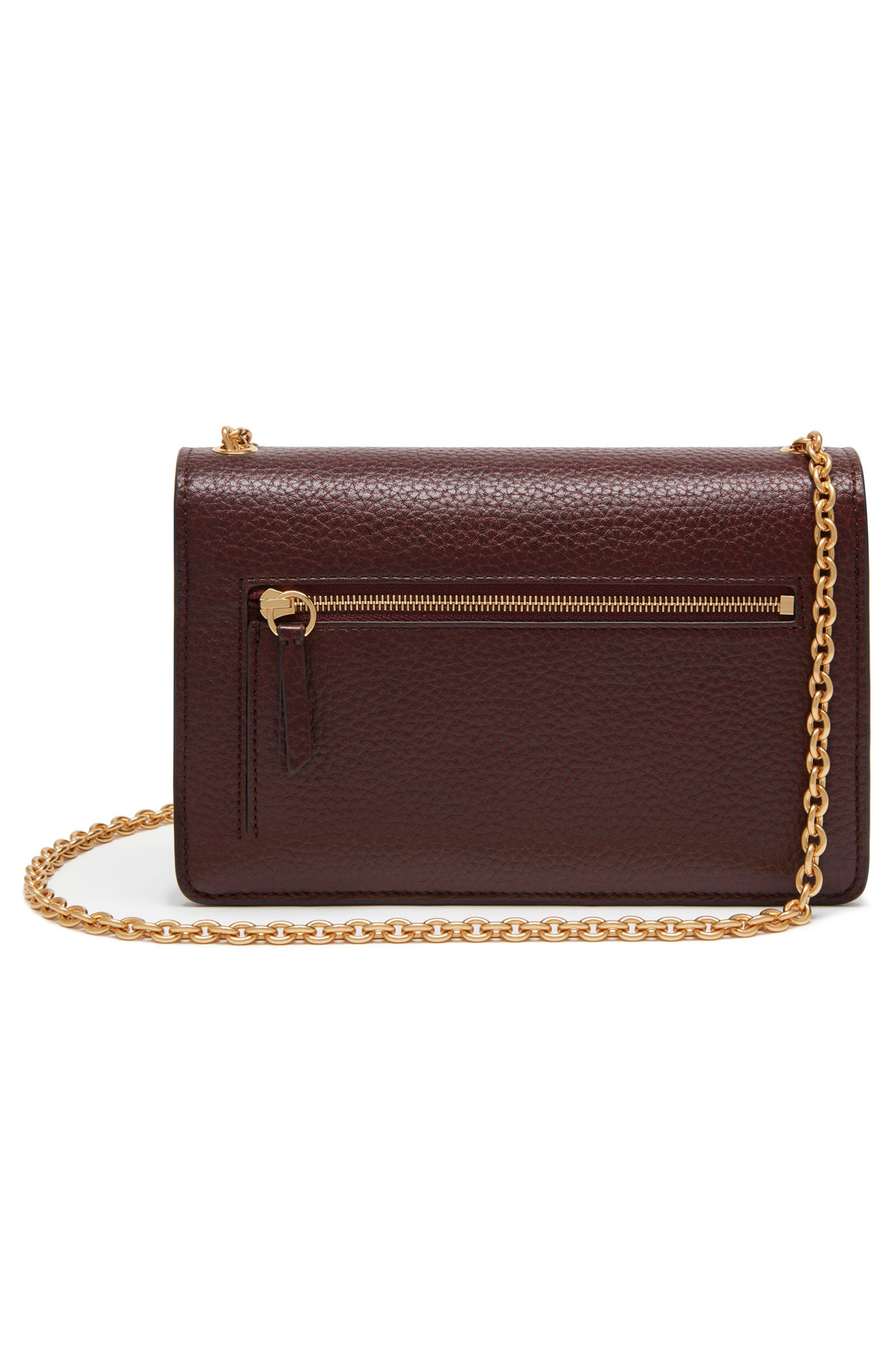 Small Darley Leather Clutch,                             Alternate thumbnail 2, color,