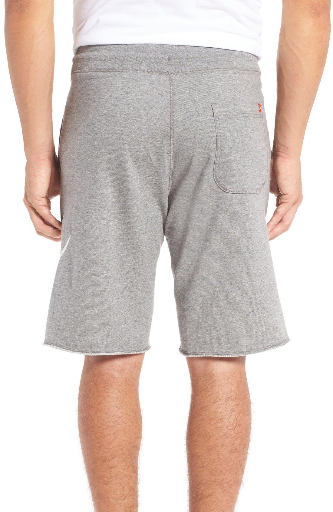 'NSW' Logo French Terry Shorts,                             Alternate thumbnail 5, color,                             CARBON HEATHER/ WHITE