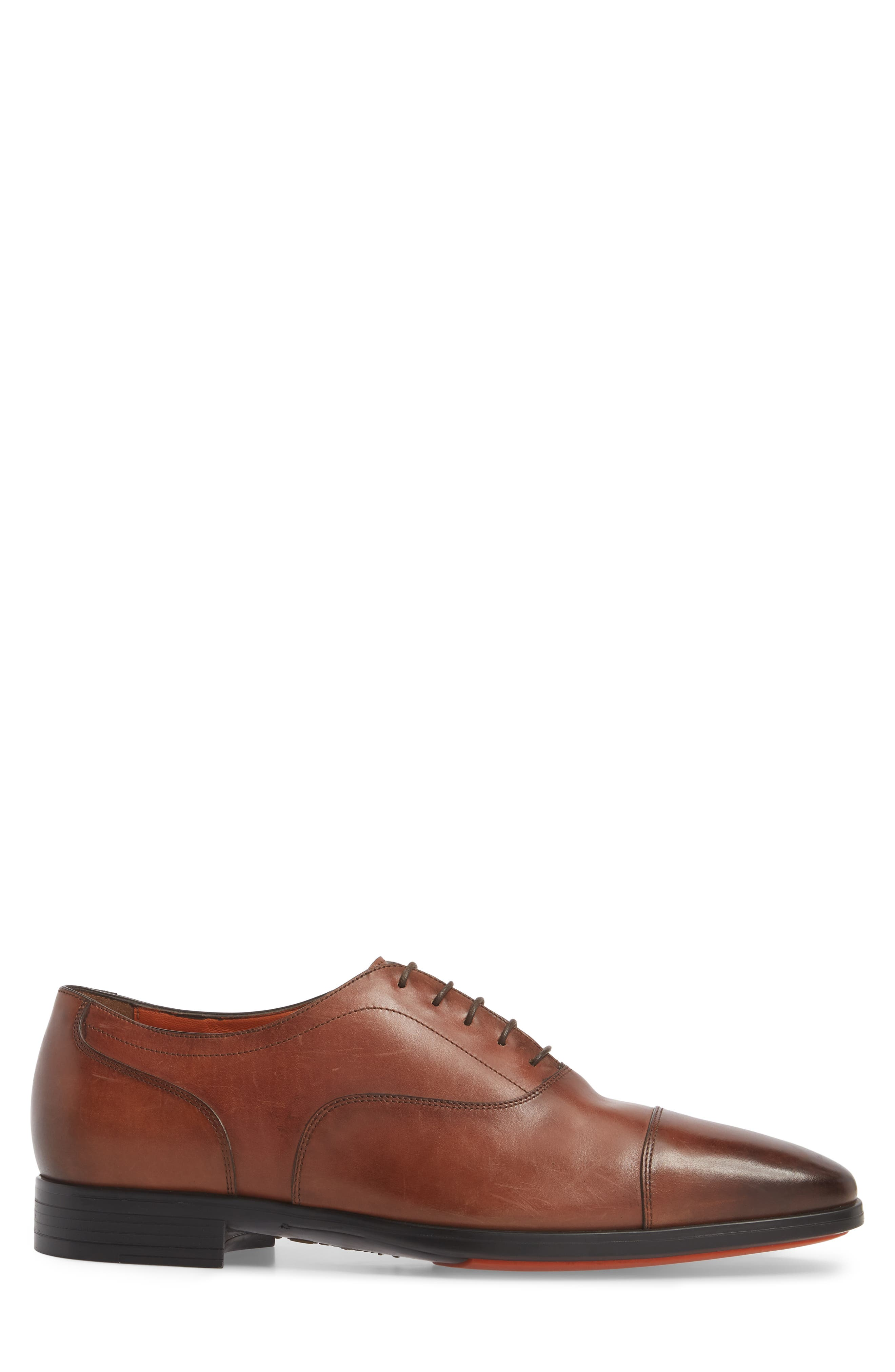 Eamon Cap Toe Oxford,                             Alternate thumbnail 3, color,                             BROWN