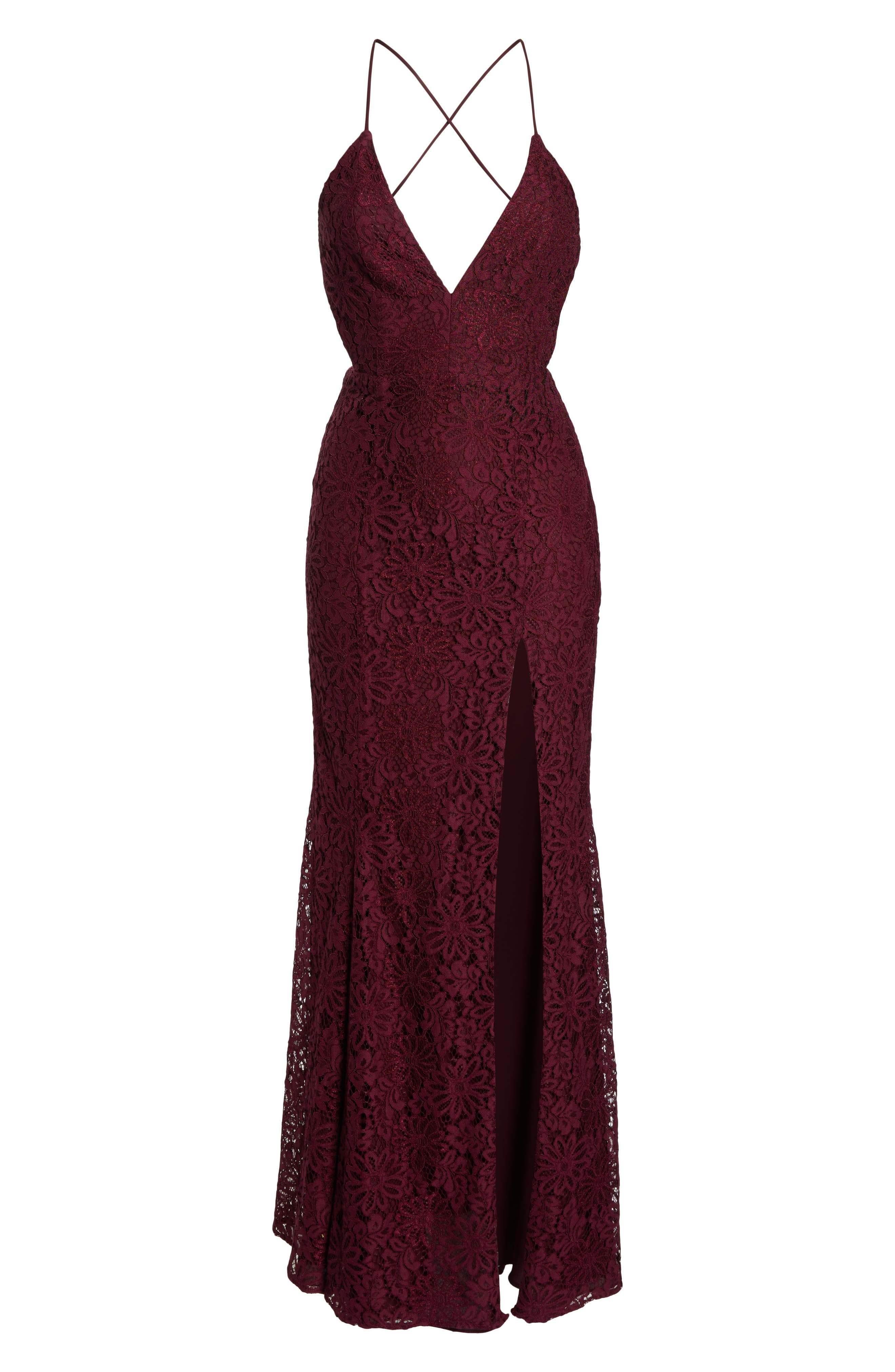 The Yan Gown,                             Alternate thumbnail 7, color,                             WINE
