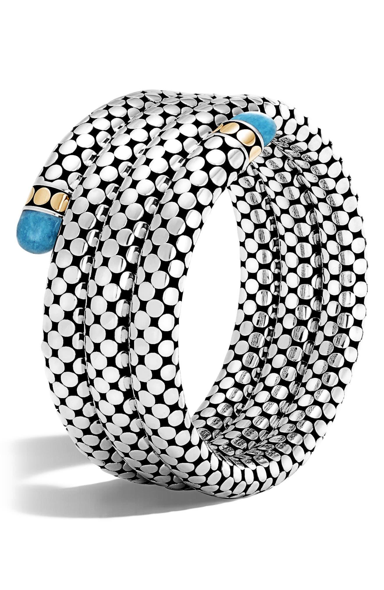 Dot Triple Coil Bracelet,                             Main thumbnail 1, color,                             040