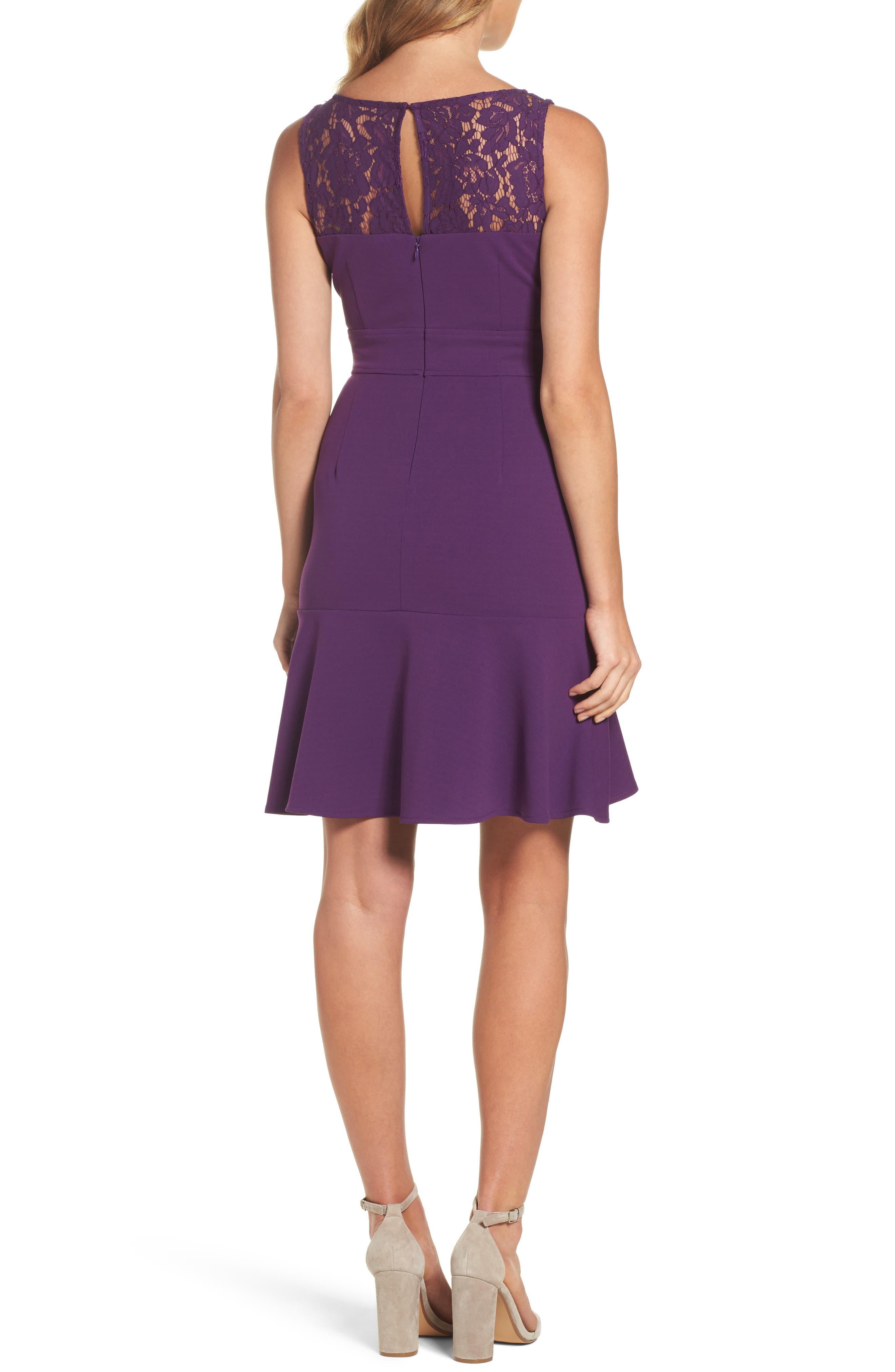 Lace Flounce Dress,                             Alternate thumbnail 4, color,