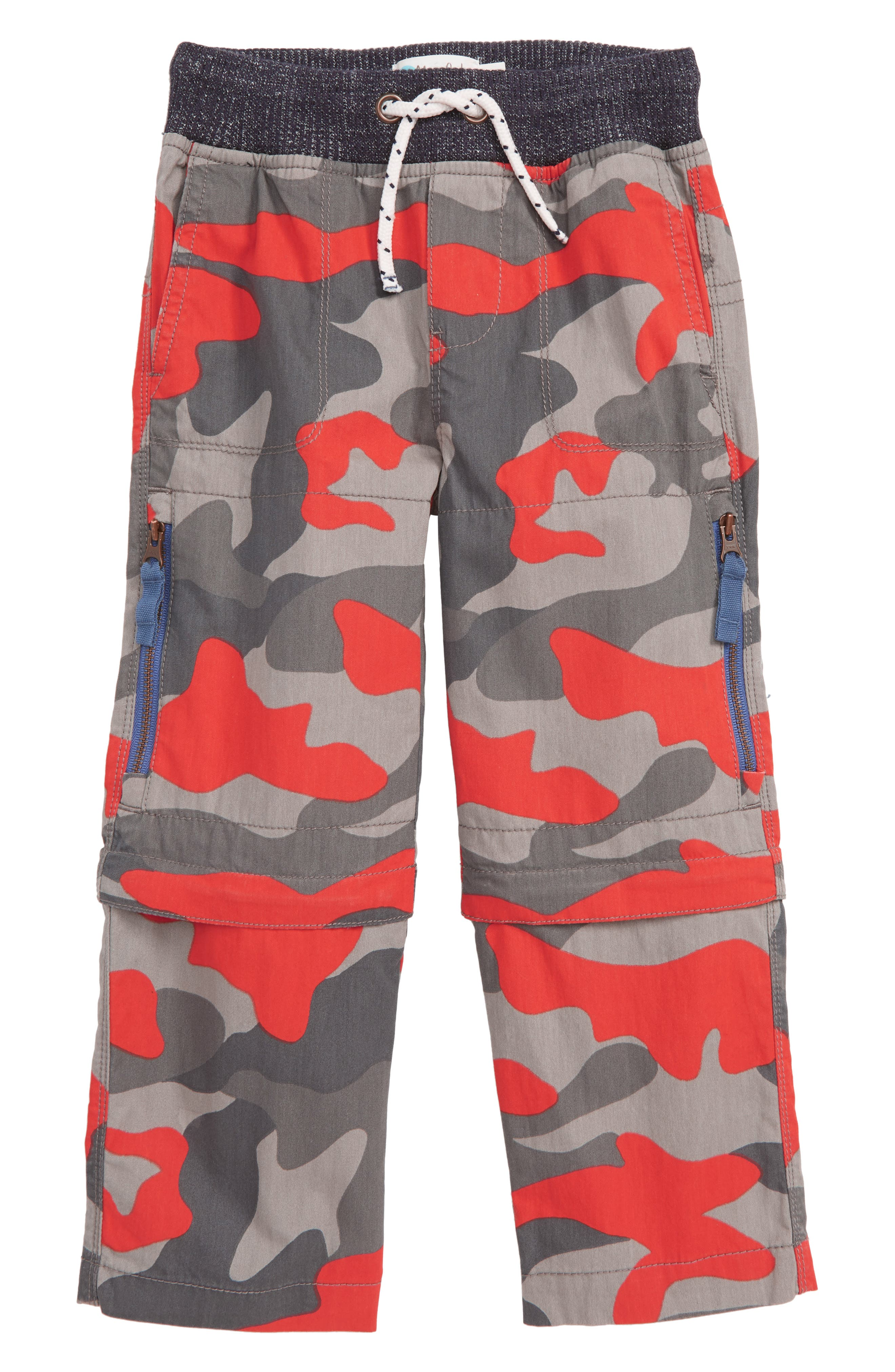 Toddler Boys Mini Boden Techno Convertible Zip Off Pants Size 3Y  Red